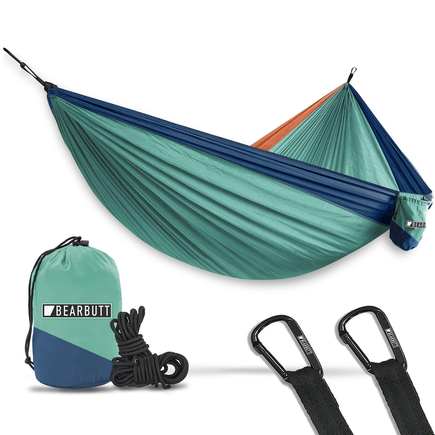 9. Bear Butt Hammock - The Bear Butt Double hammock ($30) is lightweight but strong at the same time, maxing out at a 500-pound load. You can easily fit a significant other for some romantic star gazing or afternoon book reading. The Bear Butt still packs down small to the size of a Nalgene water bottle and comes with all the tools you'd need to set yourself up between a pair of trees.