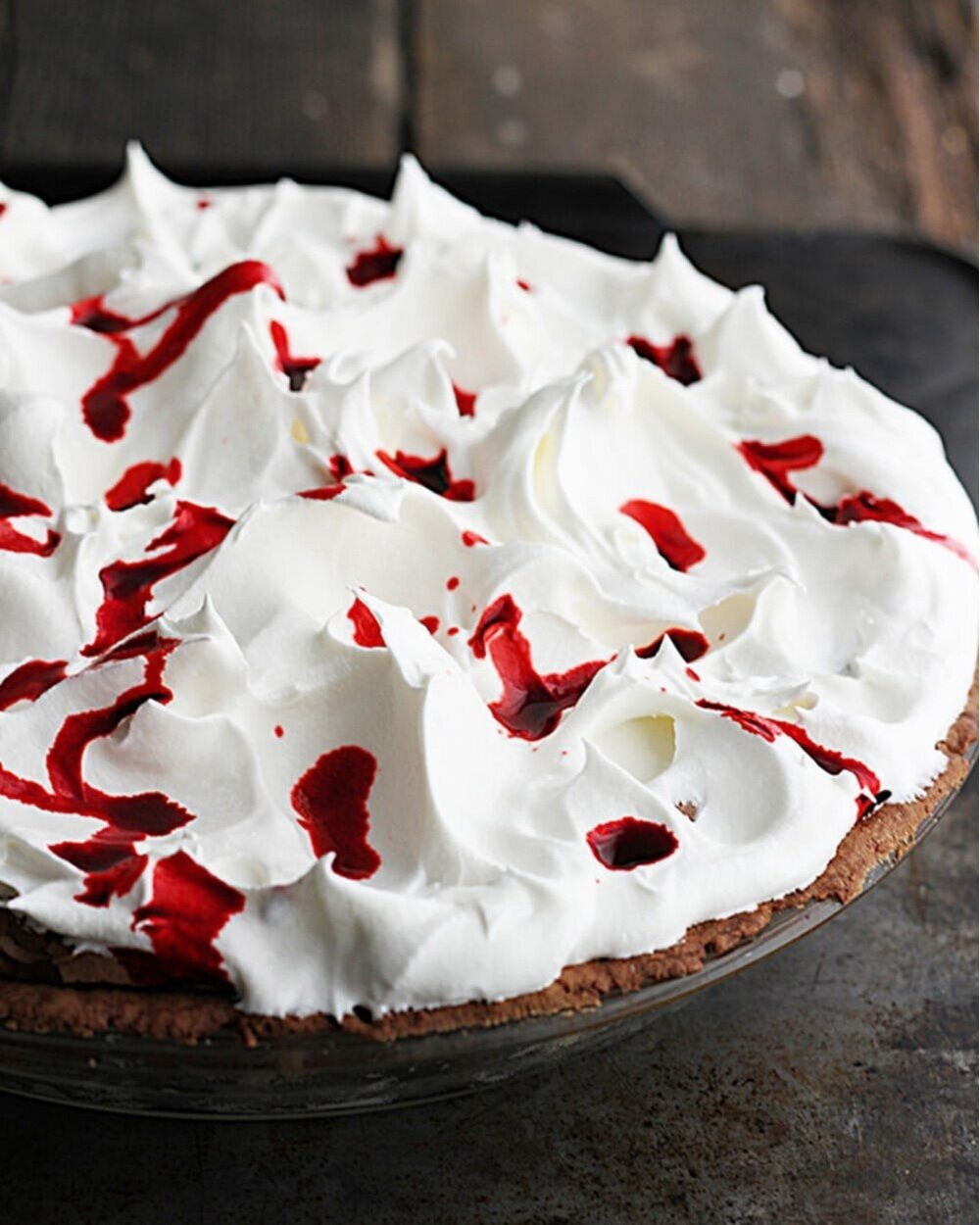 5. Mississippi Blood Pie - It's all in the name. This rich and decadent mud pie is equal parts creepy and delicious and makes for the perfect centerpiece for your Halloween party.Total Cook Time: 1hr 20 minutes