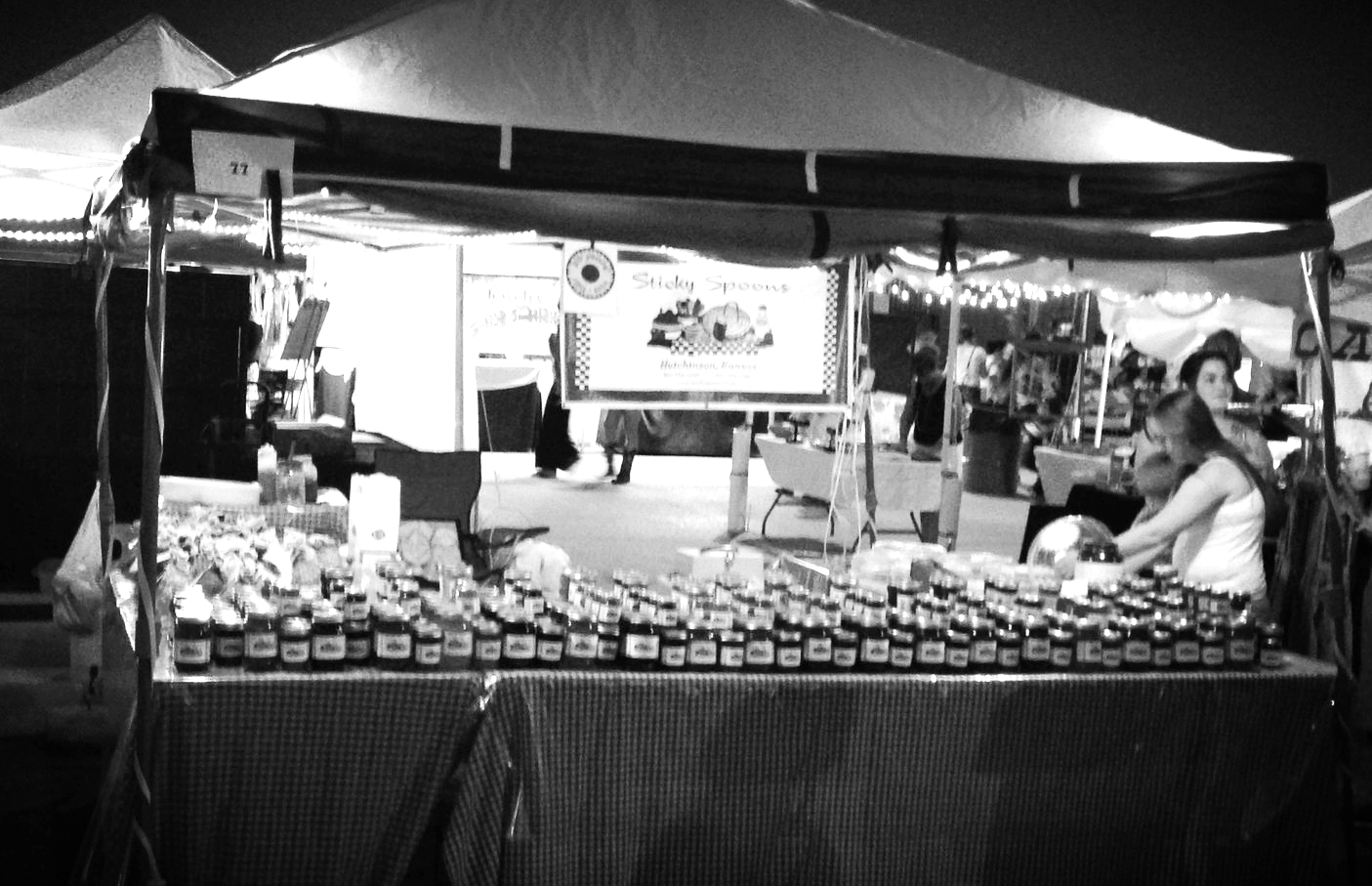 Our booth at Johnson Co. Old Settlers