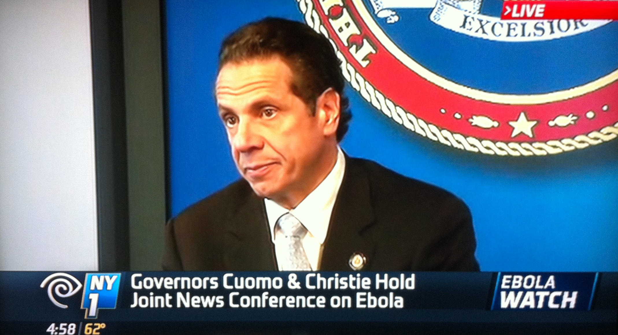 Gov.  Andrew Cuomo  (D-NY) announced mandatory quarantines for medical workers returning to New York after having provided  Ebola  care to people in West Africa, a move that diverges state Ebola protocols from city protocols. Source : NY1