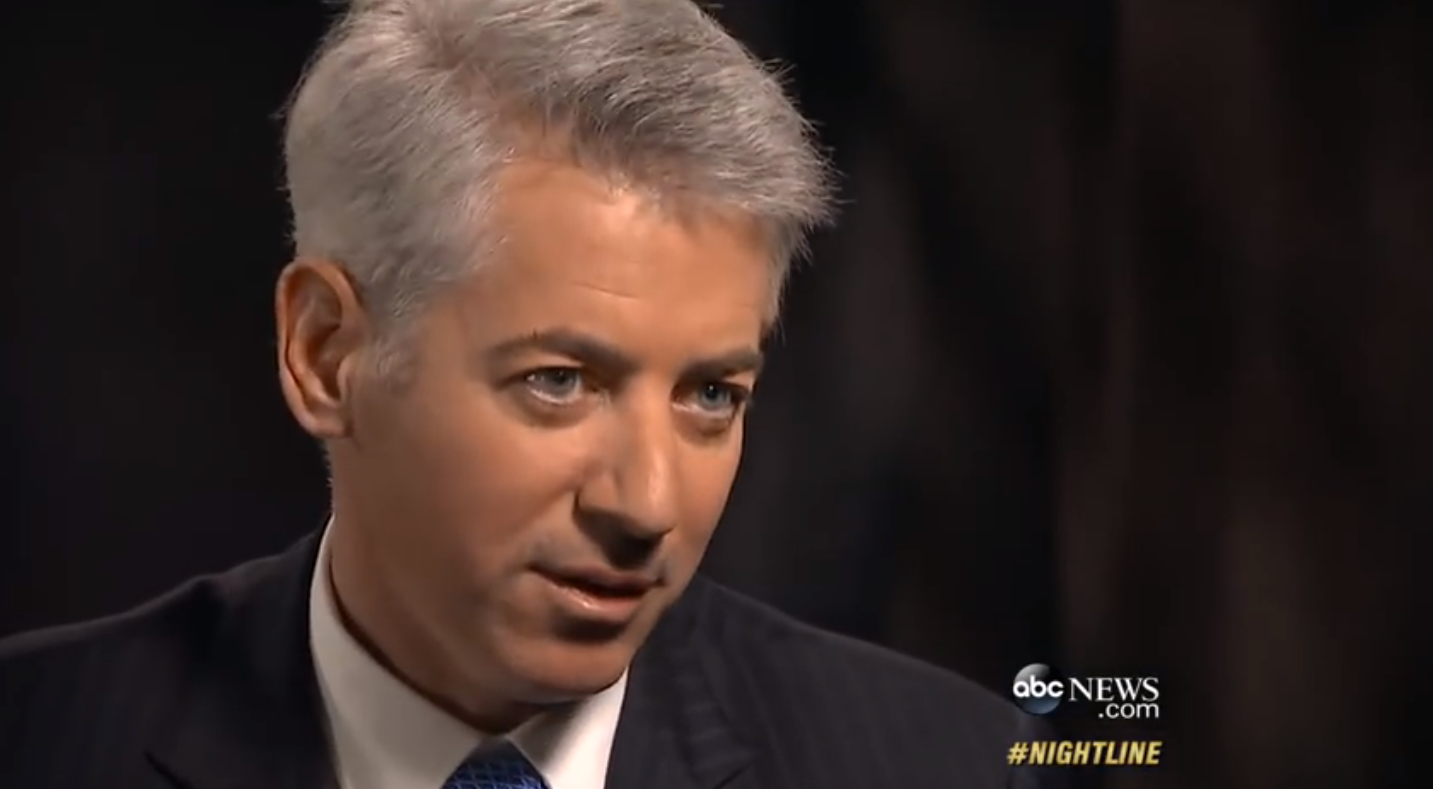 Wall Street hedge fund titan William Ackman, head of Pershing Square Capital Management. Mr. Ackman has placed a $1 billion short bet on Herbalife's publicly-traded shares. Mr. Ackman is leading the charge to expose fraud and questionable business practices at Herbalife. Source : ABC News/YouTube Screen Shot