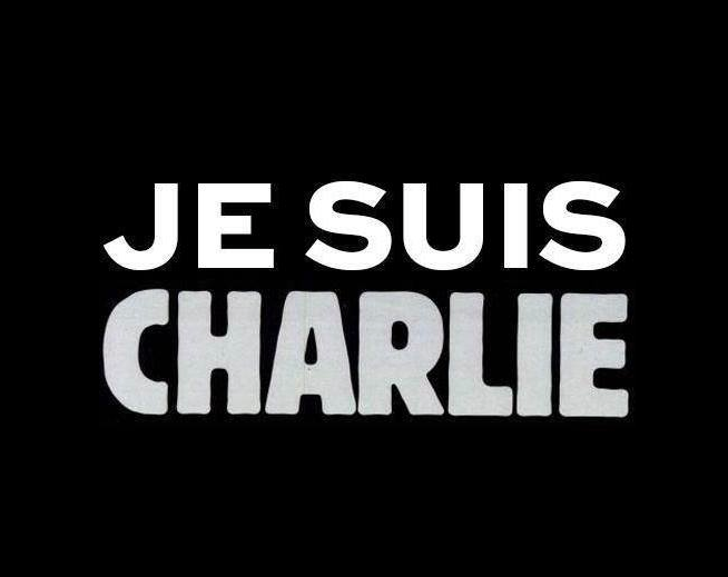 """The content of the Web site of  Charlie Hebdo  was removed, replaced by a meme, """" Je Suis Charlie ,"""" which had been being widely shared on social media on Wednesday. The phrase translates into English as, """"I am Charlie."""" Source : Charlie Hebdo"""