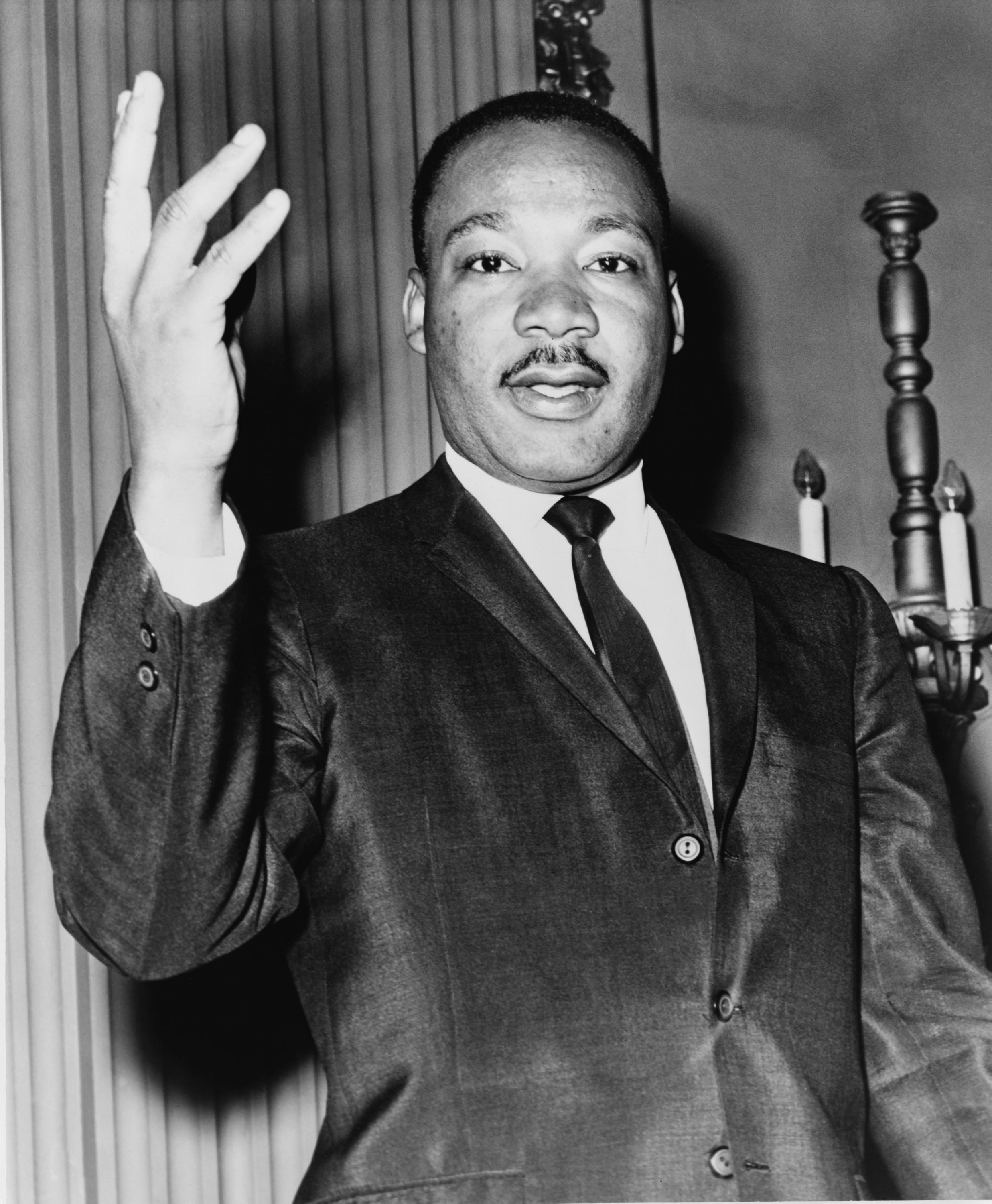 The  Rev. Dr. Martin Luther King, Jr. , on Dec. 31, 1963. Source :Dick DeMarsico, World Telegram/NYWTS/Library of Congress (Public Domain)
