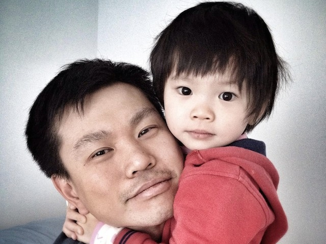 Allison Liao, right, with her father, Hsi-Pei Liao. Source : Facebook