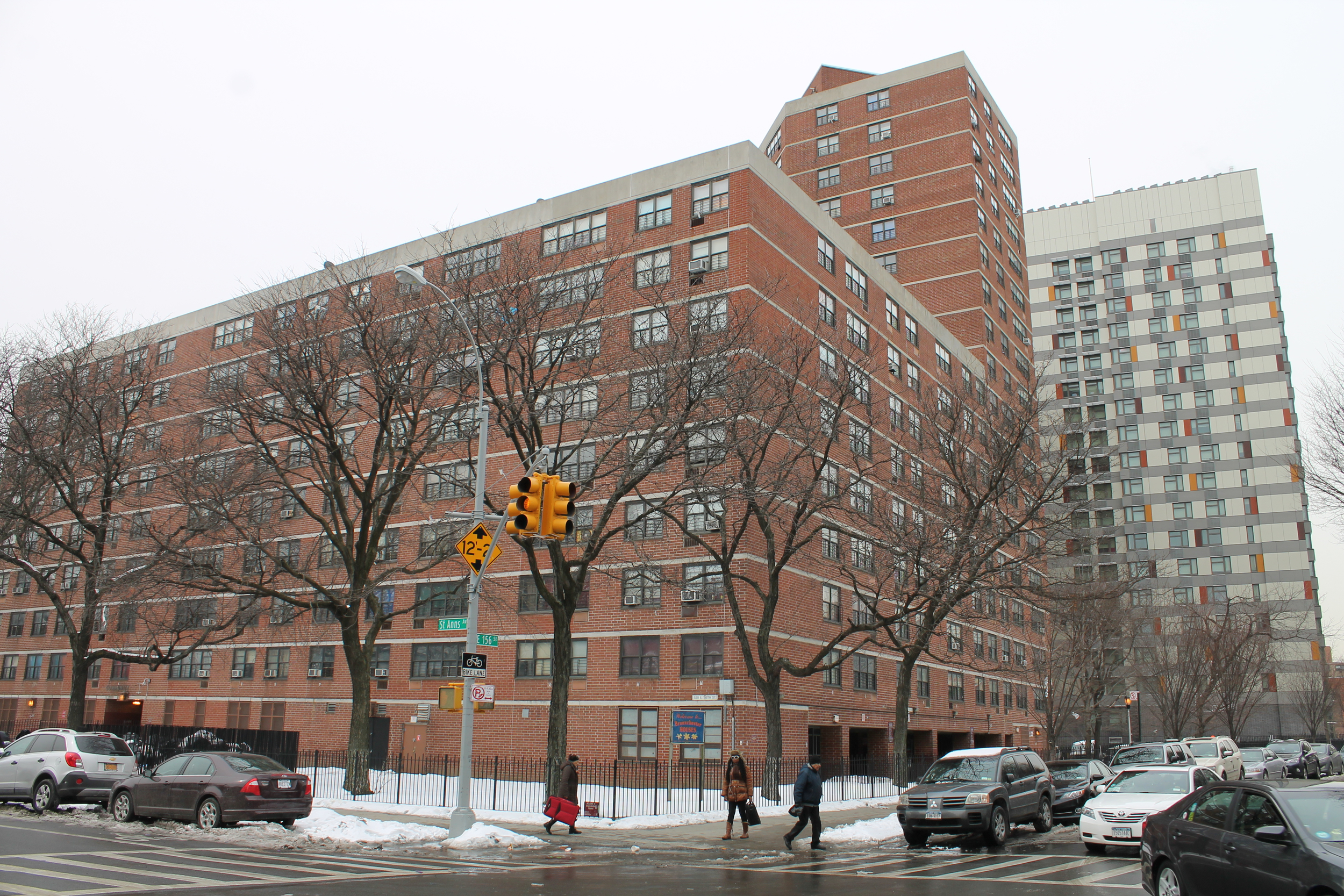 The Bronxchester, as seen on March 3, 2015, in the foreground. In the background is Via Verde, a relatively new housing development. Credit : Louis Flores