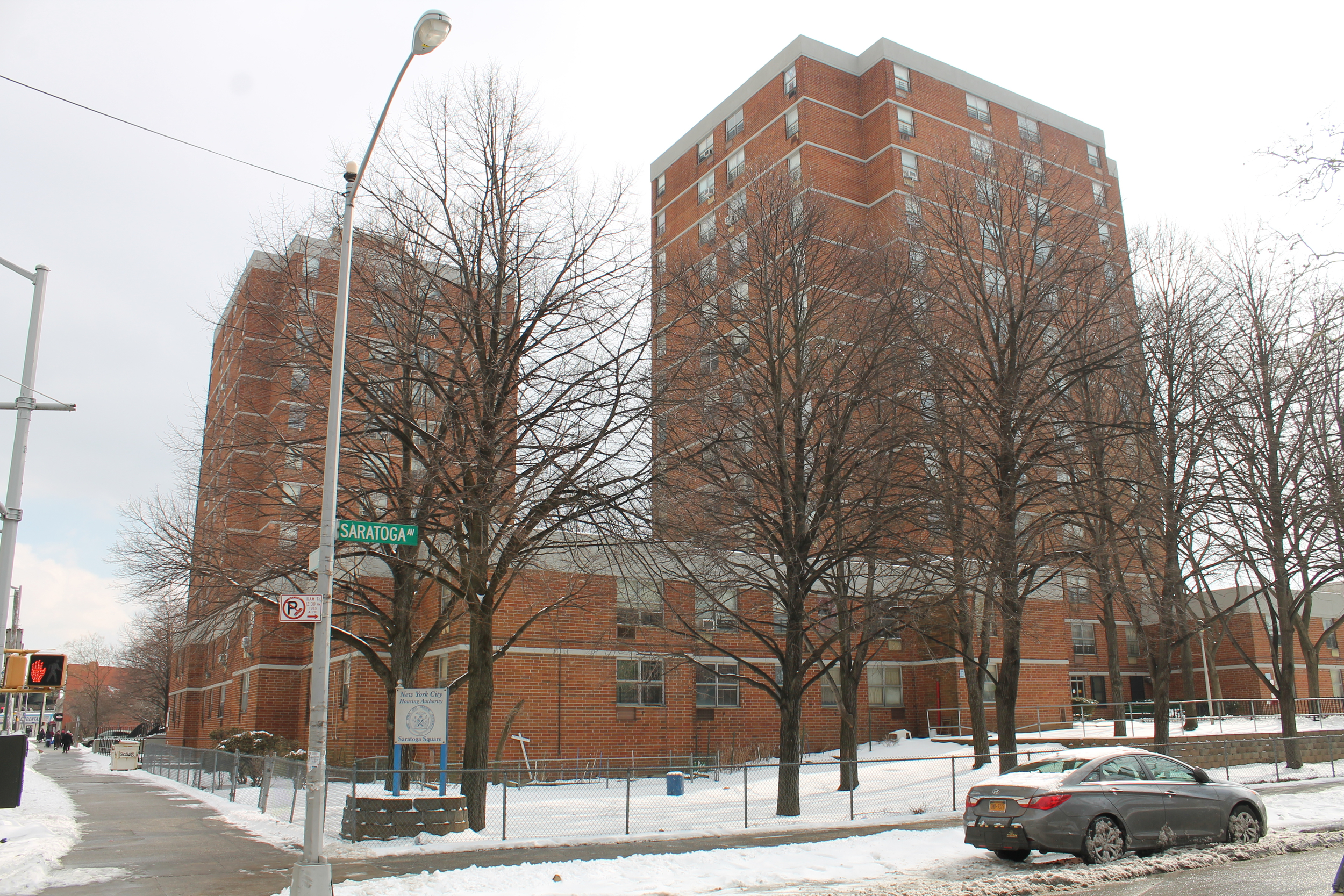 930 Halsey Street, at left, and 55 Saratoga Avenue, at right, as seen on March 2, 2015. Source : Louis Flores