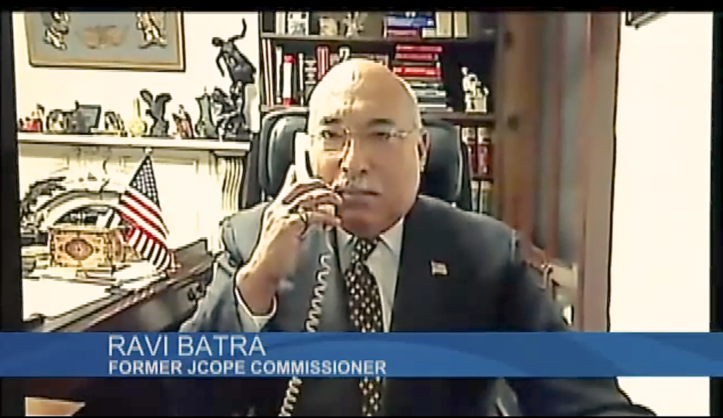 Ravi Batra resigned in 2012 as a JCOPE commissioner after he claims officials exerted outside political influence on the ethics regulator.  Source :  CBS6 Albany/YouTube Screenshot