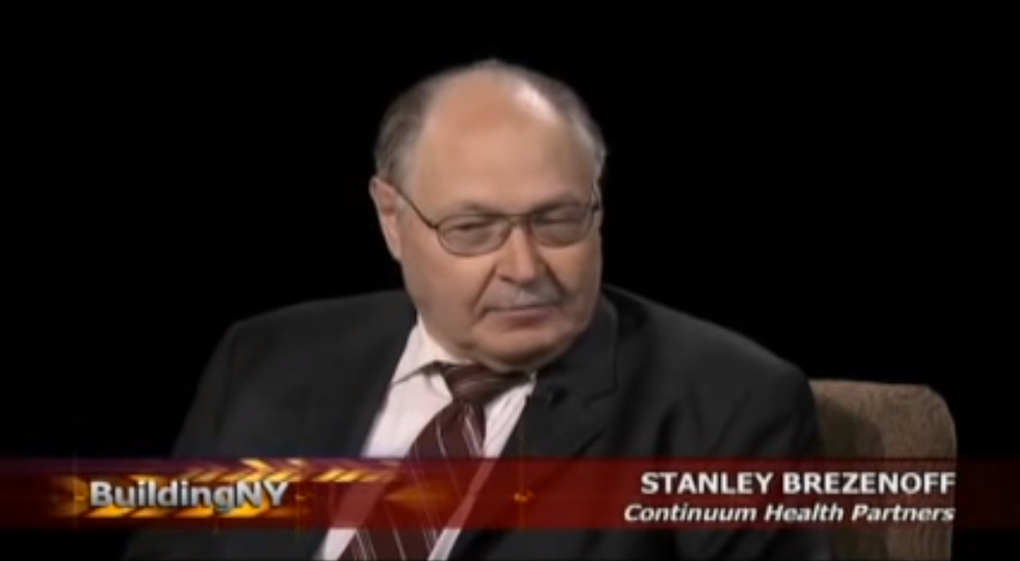 """Permanent Government"" insider  Stanley Brezenoff .  Source :  CUNY TV 75/YouTube Screen Shot"