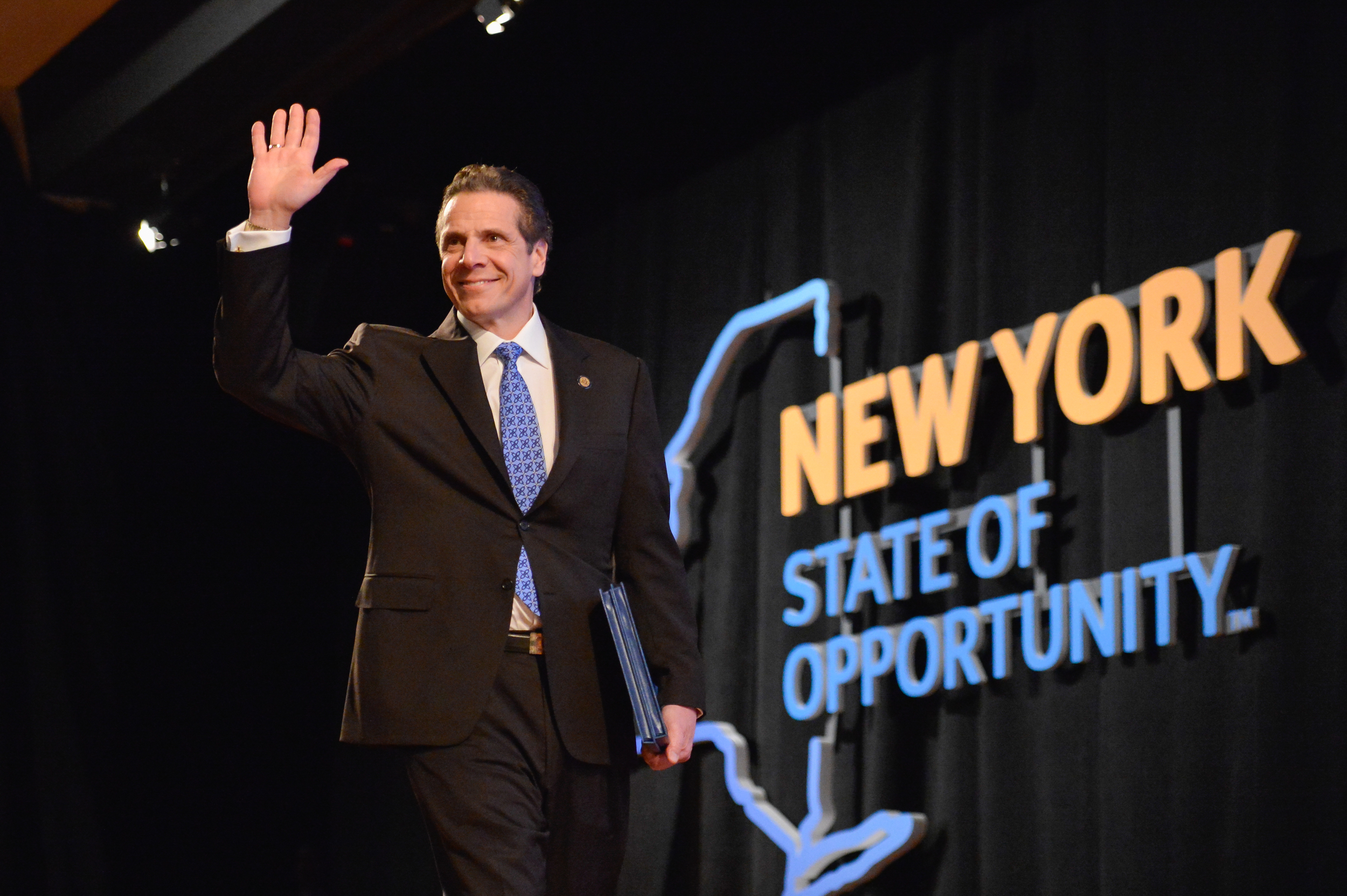 "Governor Andrew Cuomo, presenting his 2015 Opportunity Agenda in Albany on January 21, 2015.  Of the culture of corruption up in Albany, U.S. Attorney  Preet Bharara  said, ""When there's precious little disclosure, precious few consequences for violations, you're going to find huge  opportunities for corruption , and at a minimum for  conflicts of interest ,"" according to  a report  by  The Associated Press  of an interview with  Susan Arbetter  for the radio program,  The Capitol Pressroom .  Source :  Official Photograph/New York Governor's Office/Flickr"
