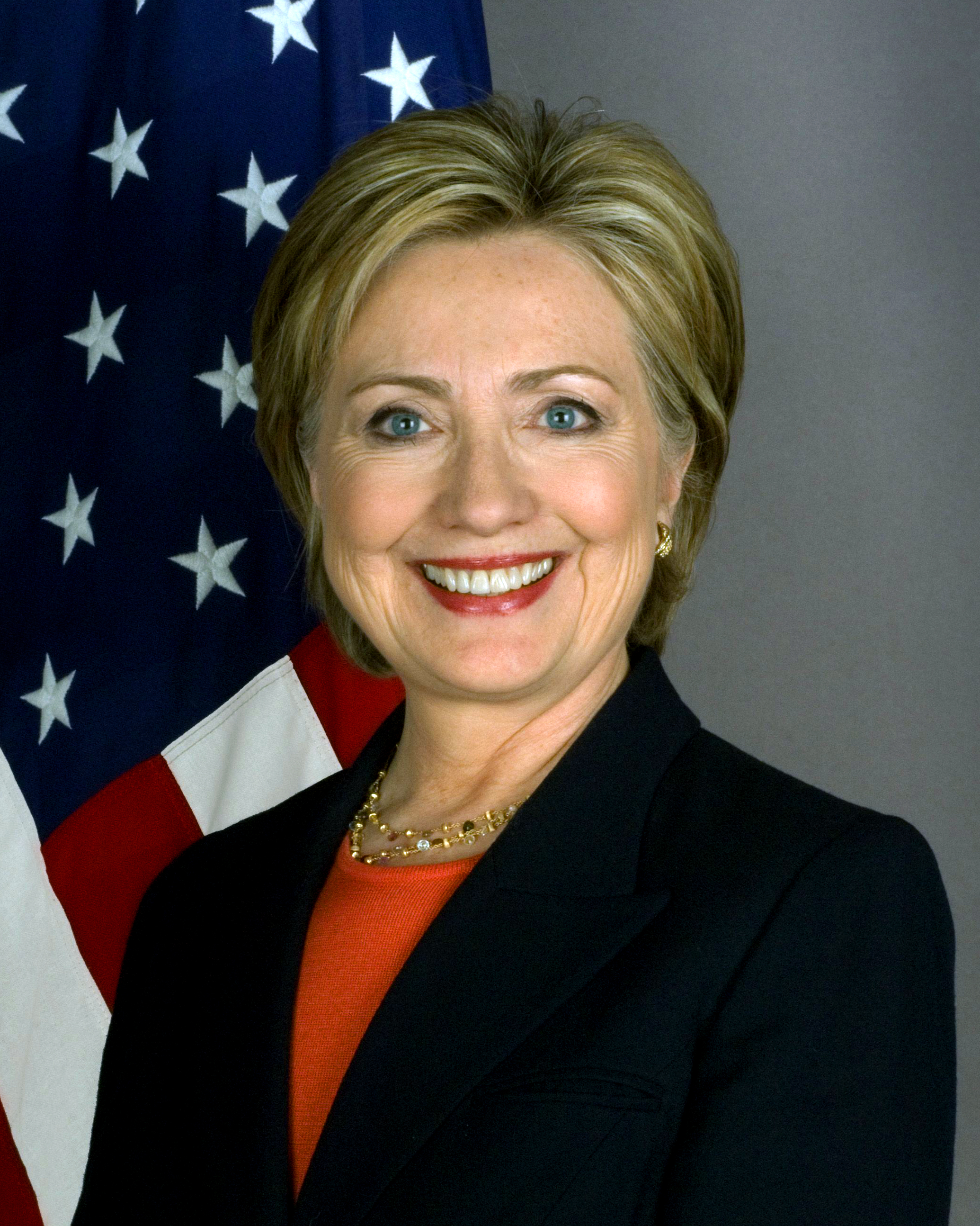 Former U.S. Secretary of State  Hillary Clinton  in her 2009 official photograph.  Source :  U.S. Department of State/Official Photograph/Public Domain