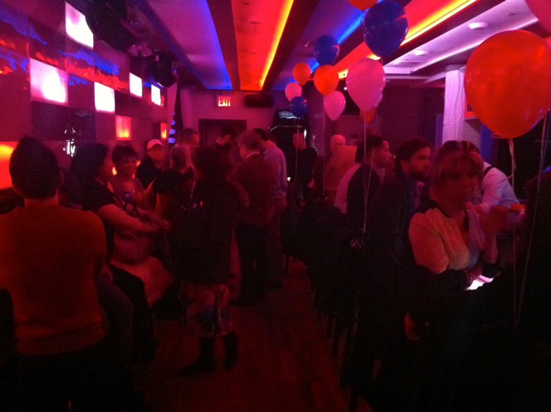 Some of the attendees of an LGBT outreach event by the Clinton campaign at Club Evolution in Jackson Heights on Wednesday evening. Source :  Louis Flores
