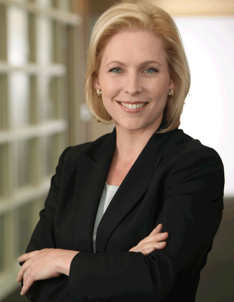 Sen. Kirsten Gillibrand's campaign committee has engaged Ross Offinger as finance director, the same position Mr. Offinger has held at Mayor Bill de Blasio's campaign committee. Mr. Offinger's campaign finance activities on behalf of Mayor de Blasio's campaign committee is reportedly one focus of a wide-ranging Federal corruption investigation into the de Blasio administration. Source : Official 2010 Campaign Photograph/Flickr/Wikipedia/CC BY-SA 2.0