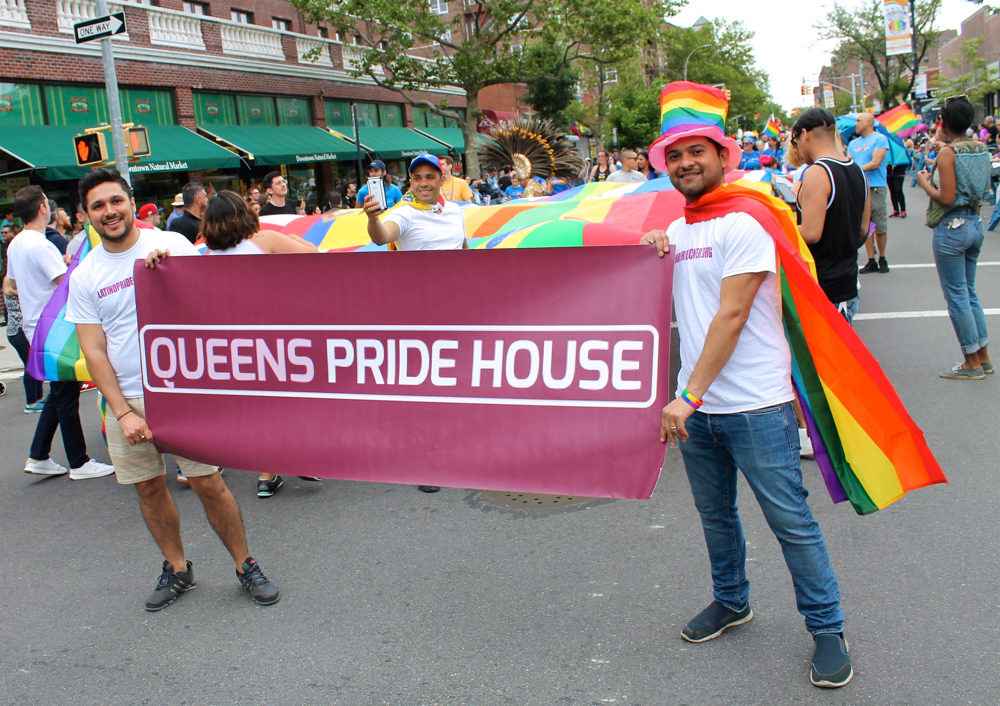 Representatives of the  Queens Pride House  awaited the start of the  Queens Pride Parade  in Jackson Heights, Queens, on Sunday afternoon. The Queens Pride House is a cornerstone center for the LGBT community in Queens. Originally founded in January 1997, the Queens Pride House has, over the years, provided critical social, health, and community services to LGBT Queens residents. However, cuts to the Queens Pride House's budget, noted in  a 2010 report  published by  The New York Times , were not cured by openly gay New York City Councilmembers  Daniel Dromm  (D-Jackson Heights) or  Jimmy Van Bramer  (D-Sunnyside), according to that report. Source : Louis Flores/Progress Queens