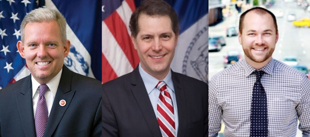 Prior to the decision of New York City Councilmember  Julissa Ferreras-Copeland  (D-Corona) to not seek reëlection, the reported leading contenders to become the next City Council speaker included, left-to-right, Councilmembers  Jimmy Van Bramer  (D-Sunnyside),  Mark Levine  (D-Morningside Heights), and  Corey Johnson  (D-Chelsea). Advocates for diversity in Municipal leadership have expressed concern to Progress Queens that no minority leader has been identified to be a reported leading contender for the City Council speakership. Source : New York City Council/Public Domain