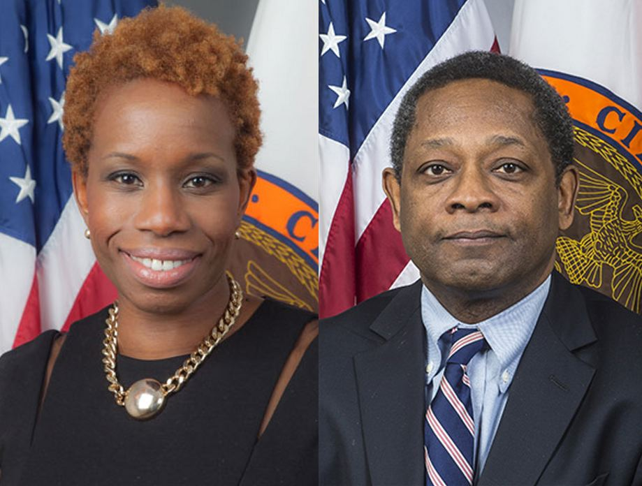 NYCHA CEO Shola Olatoye, left, has faced calls for her resignation. She signed a false lead paint certification that was voted on by the Board of Directors of NYCHA. It is not known if Derrick Cephas, right, vice chair of NYCHA's Board of Directors, was aware that the Board of Directors was asked to vote to approve the filing of a false instrument. Source : NYCHA/Fair Use