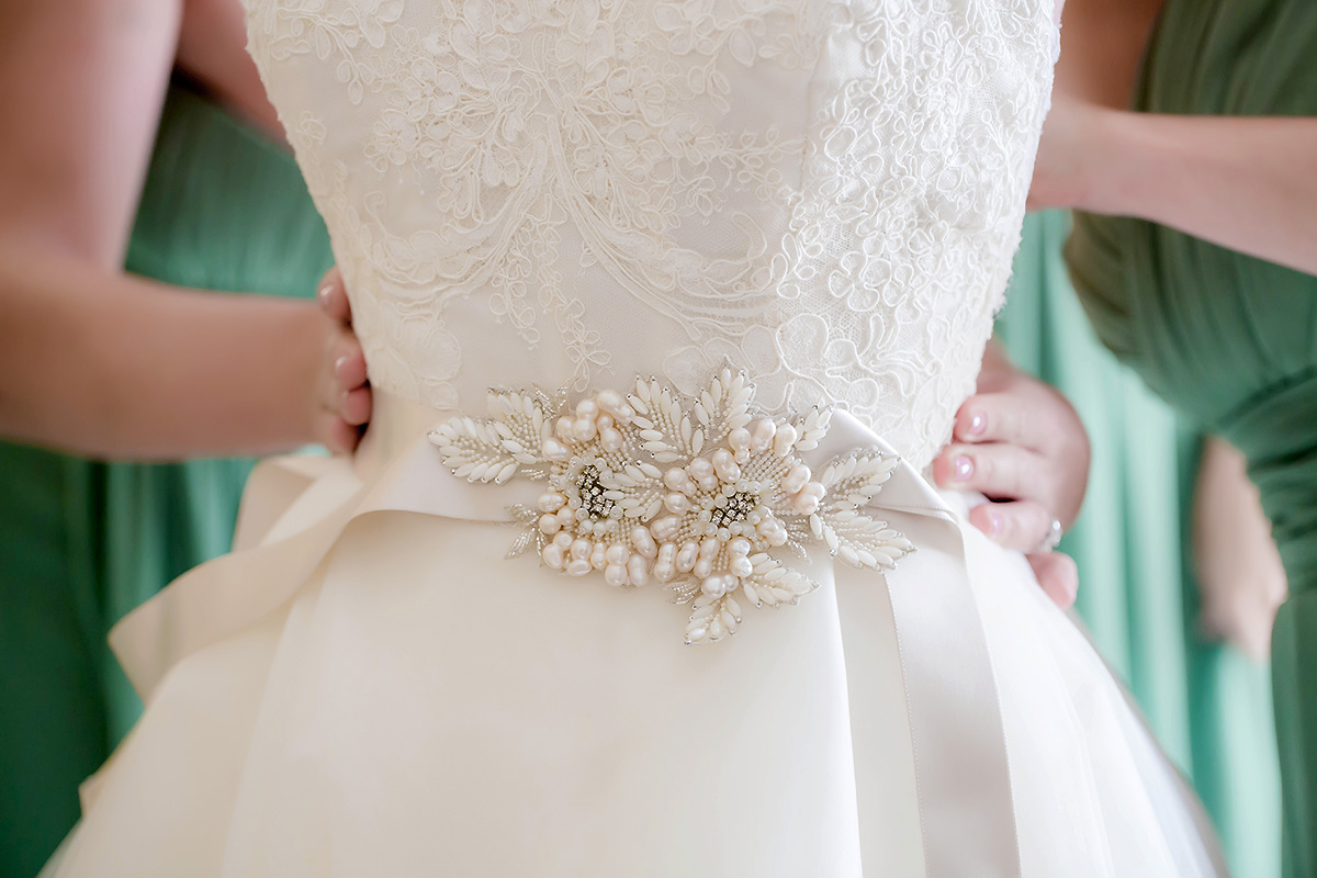 Katya had NO regrets with this gorgeous dress! See more on   their wedding gallery.