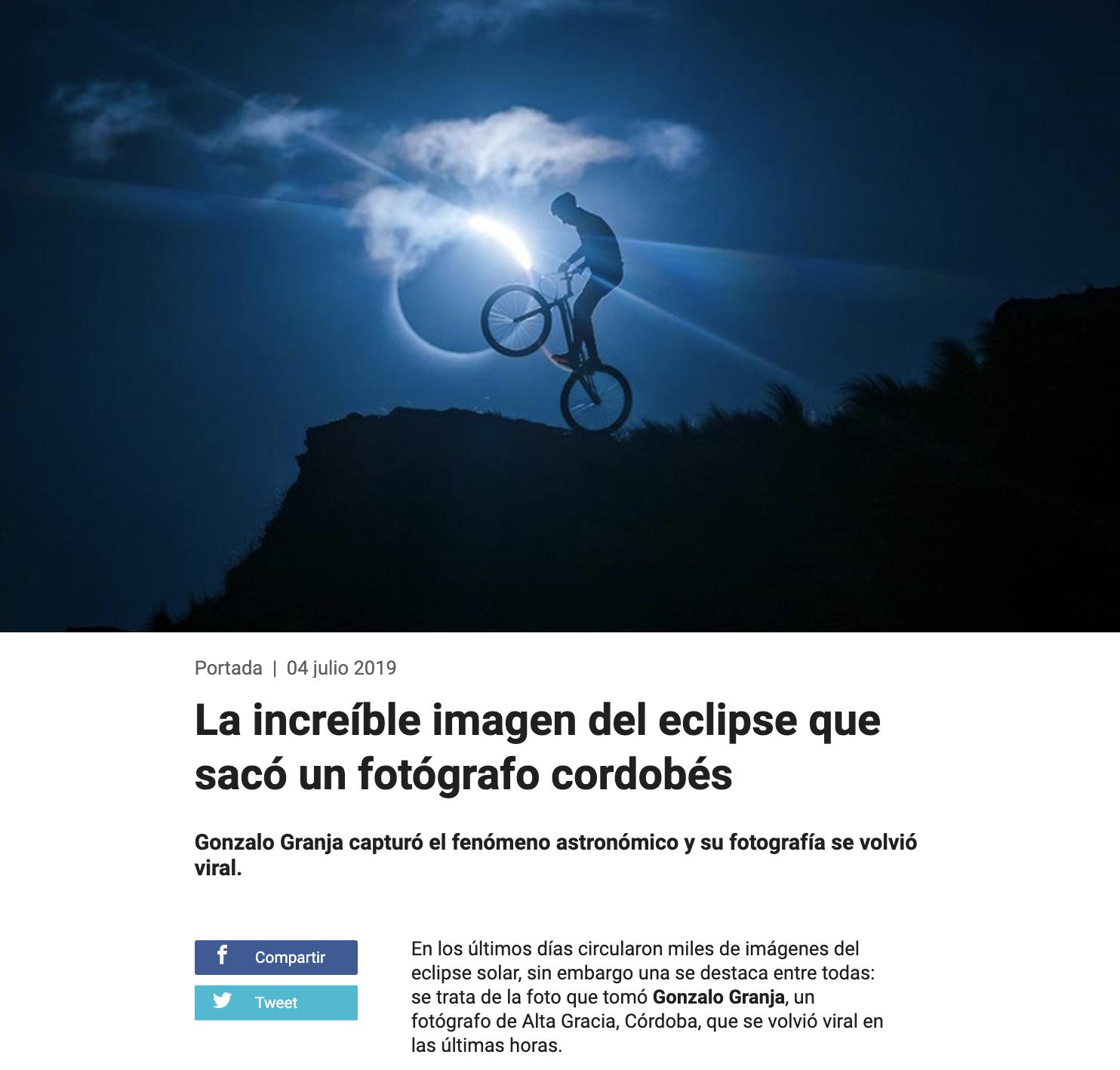 Reseña por la fotografía del Eclipse Solar - TELEFÉ NOTICIAS