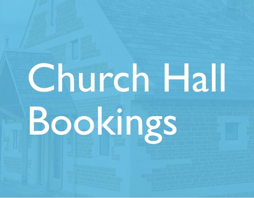 Church Hall Bookings