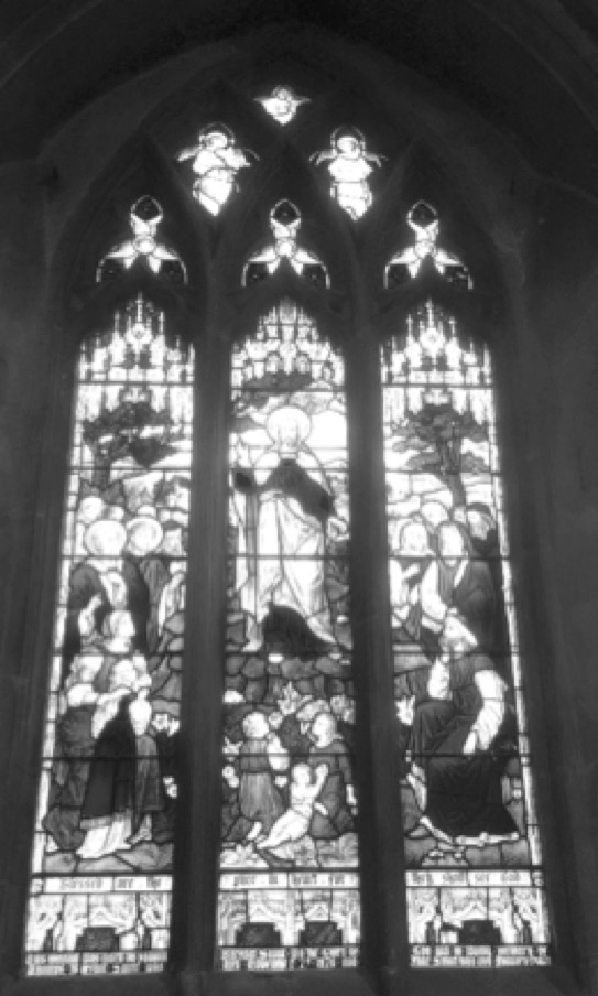 The Saunt Window in the   Chancel of St Dionysius Church