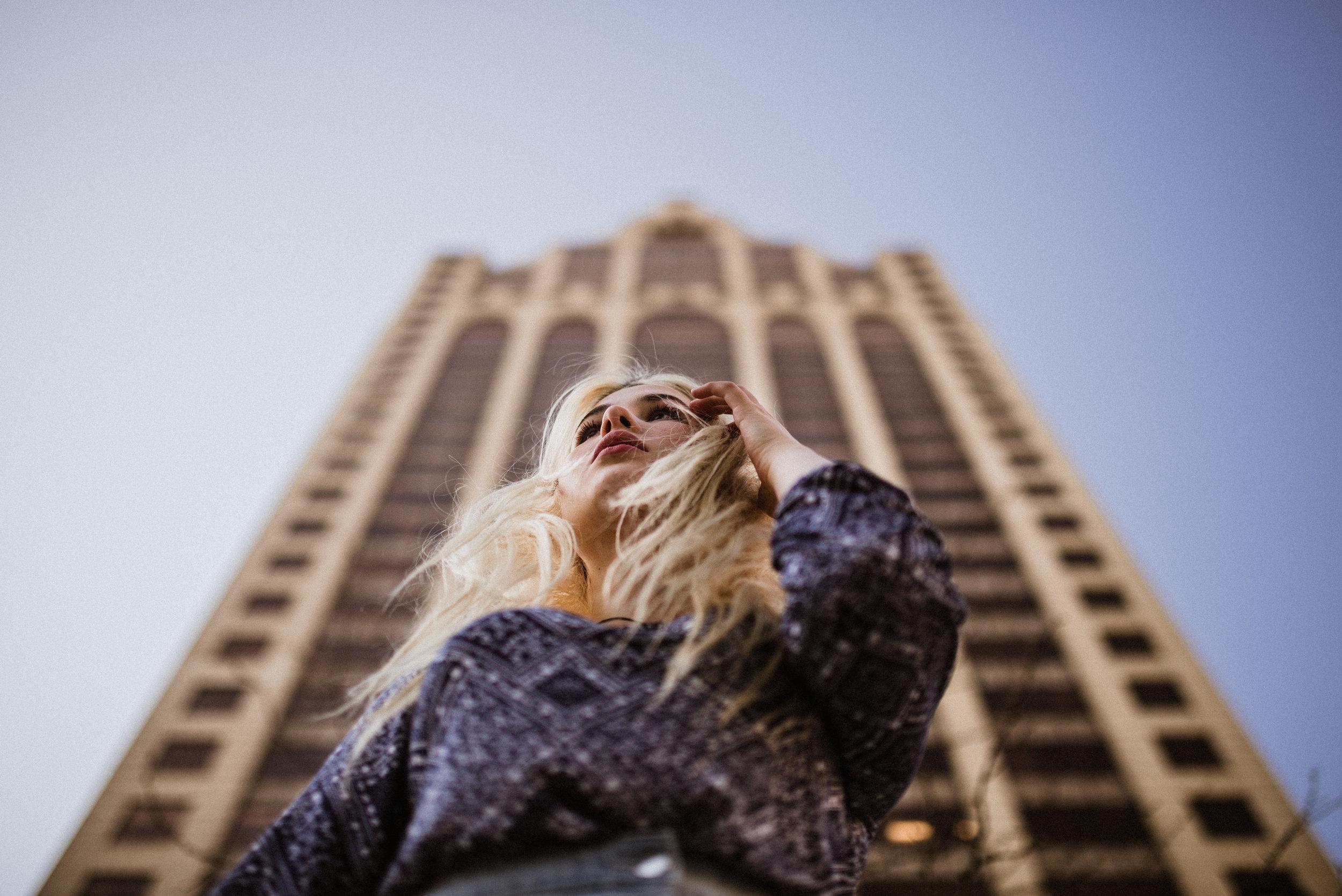 portrait urban buildings
