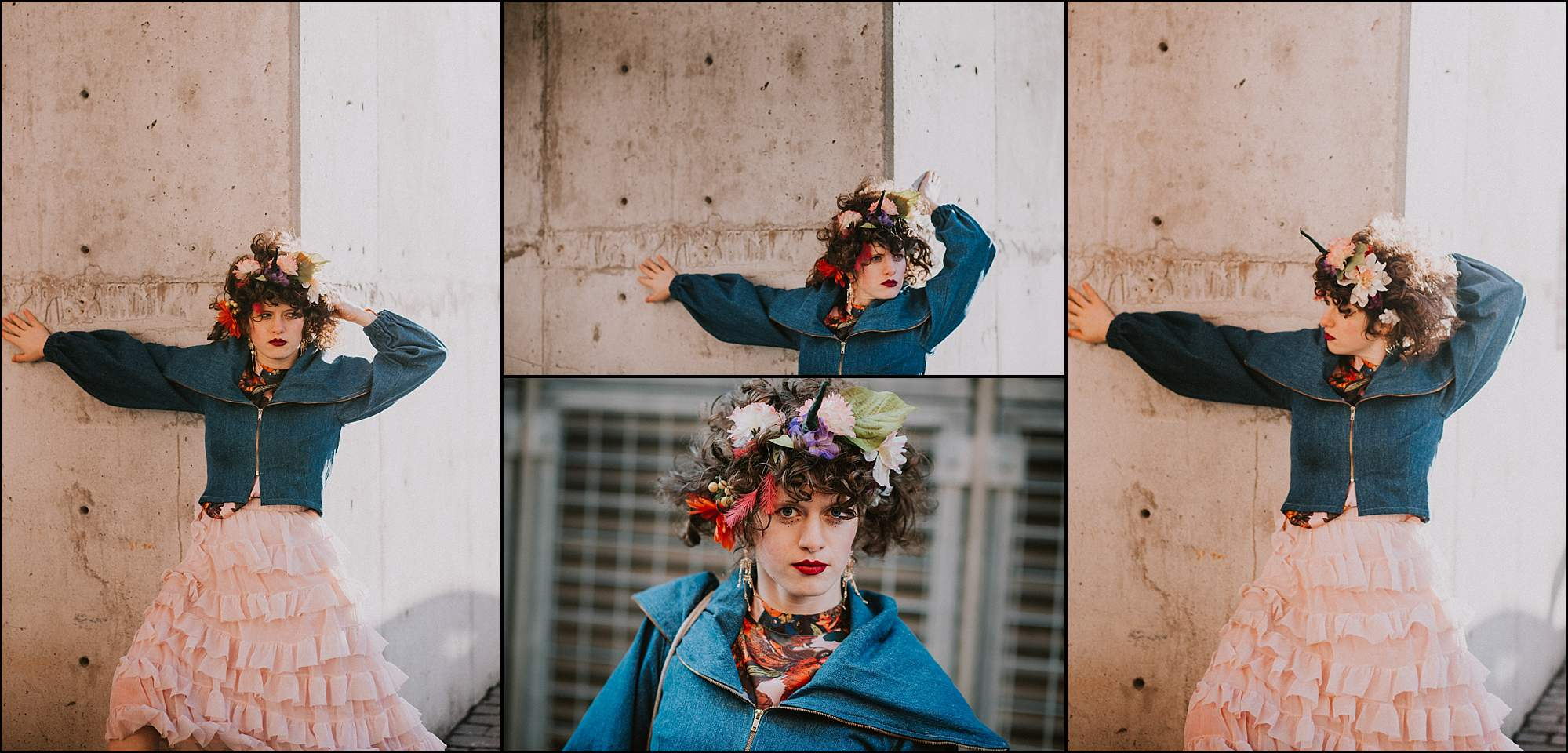 Creative portrait flower crown