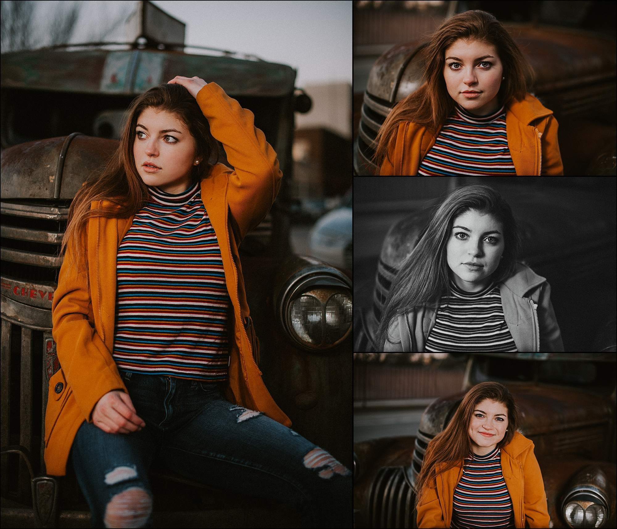young-woman-portrait-vintage-truck-orange
