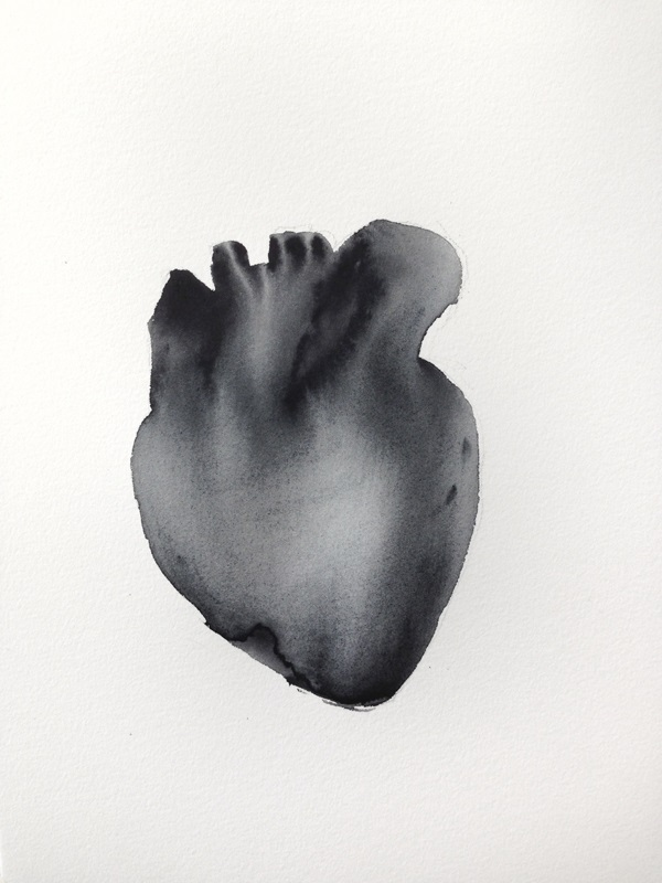 HEART (2013) watercolor on paper, 32x24cm