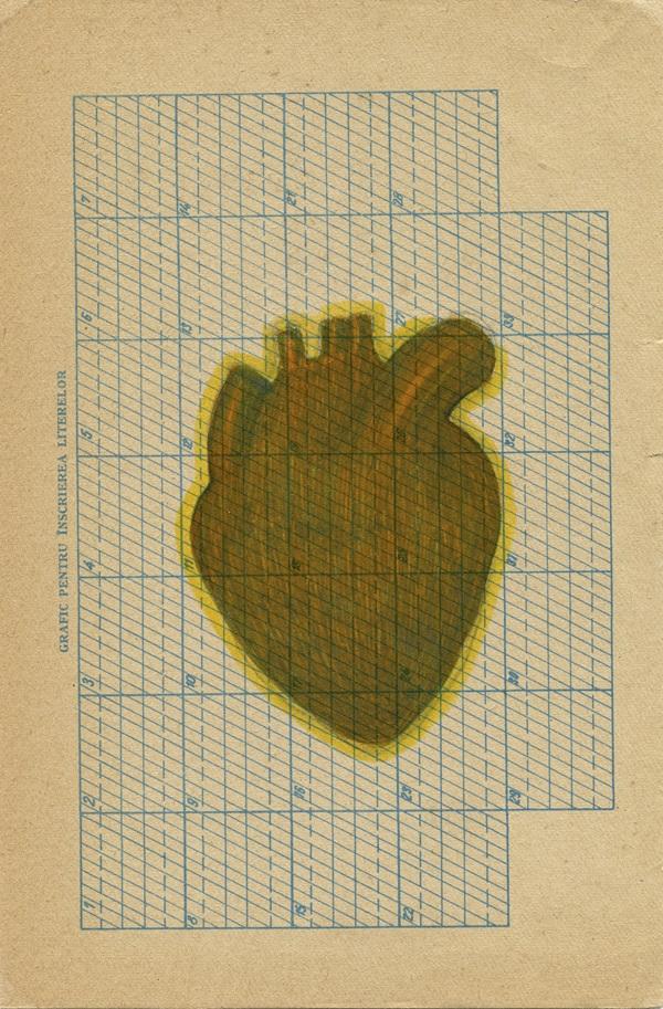 PAPER HEART (2014) felt pen on paper, 23 x 15 cm