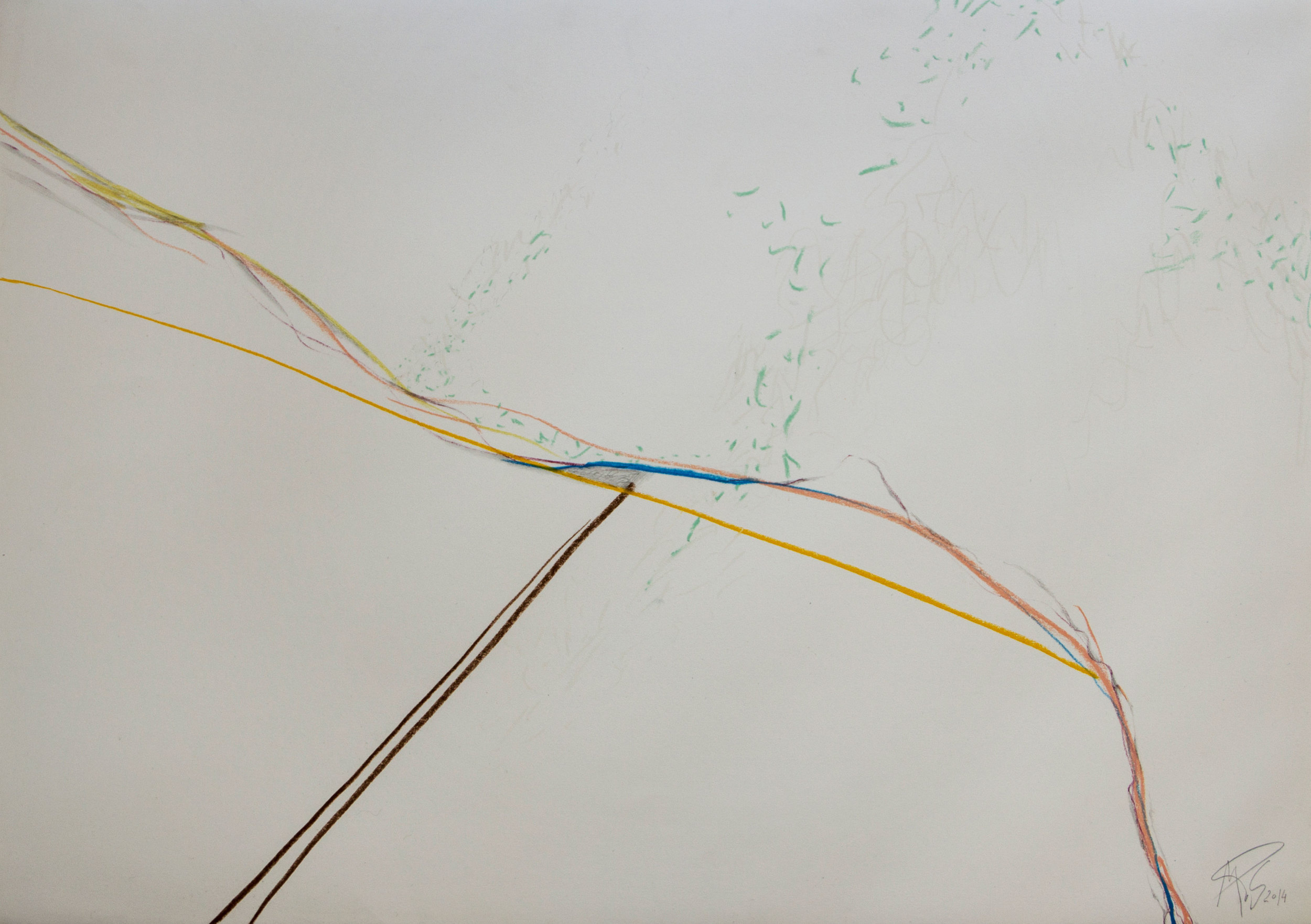 IN/OUT SPACE/ DINCOLO (2014) PASTEL ON PAPER 57 X 77 CM