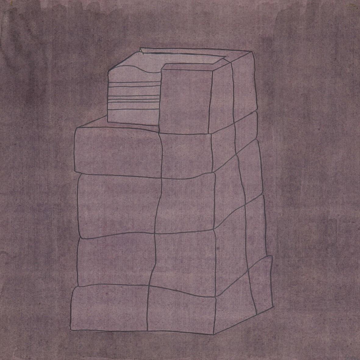 MODULE. GENESIS (1981) MIXED TECHNIQUE ON PAPER 30 X 29 CM X 5 PIECES