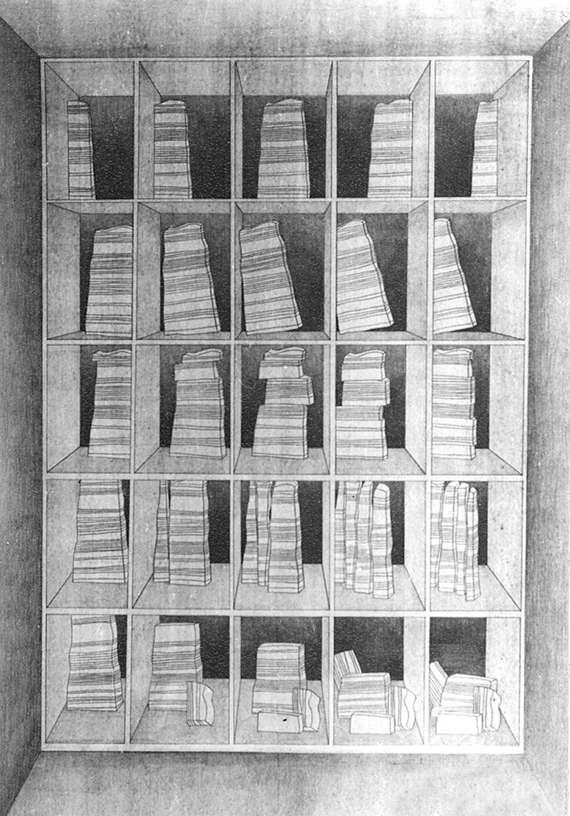 SERIALISM I (1981) PENCIL ON PAPER 70 X 100 CM