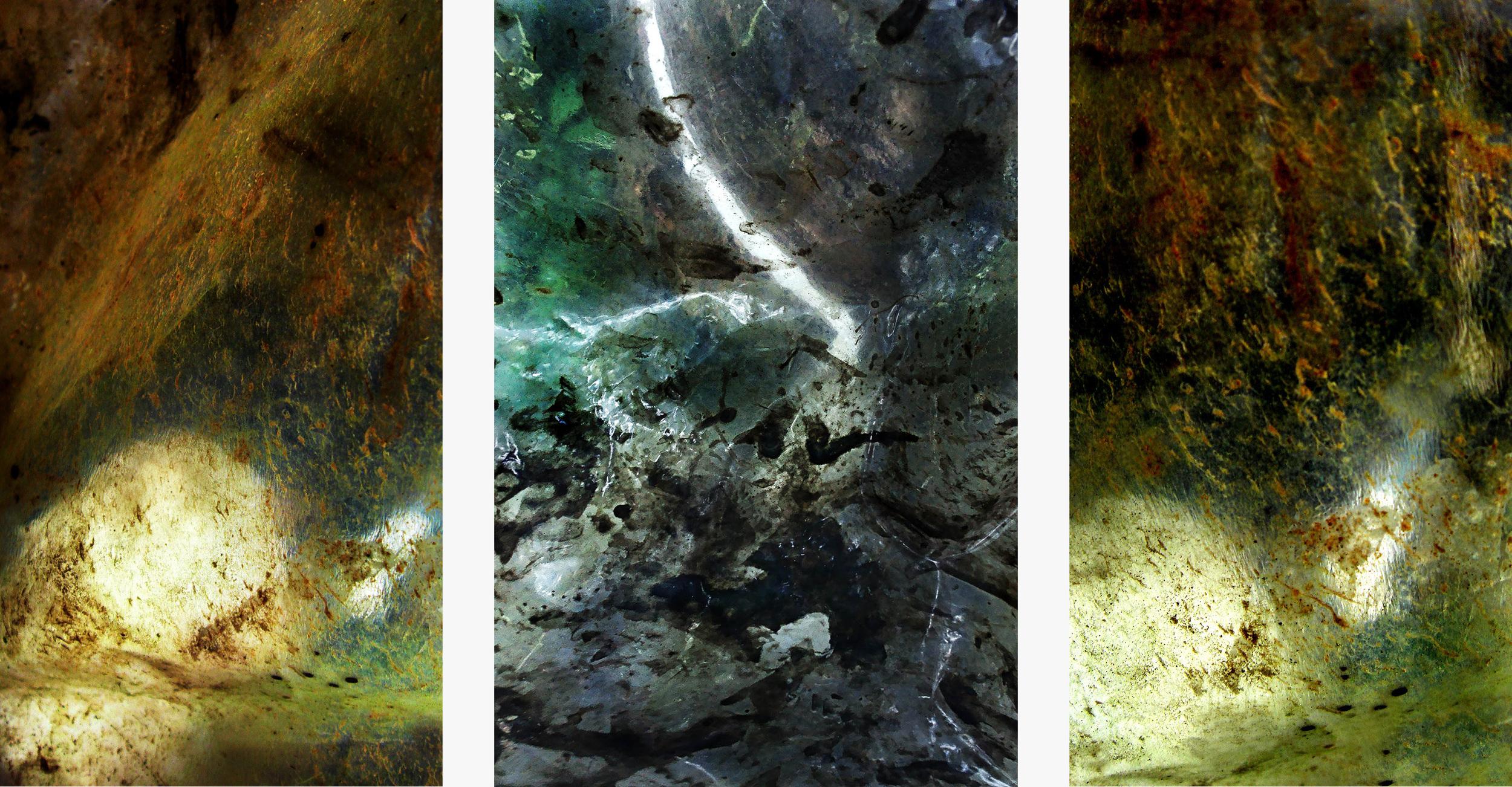 Rubato 034R/036R/0125b (2010-2013) triptyque,  100 x 198,40 cm, Pigment inks on Fine Art paper, 5 editions, artist's collection