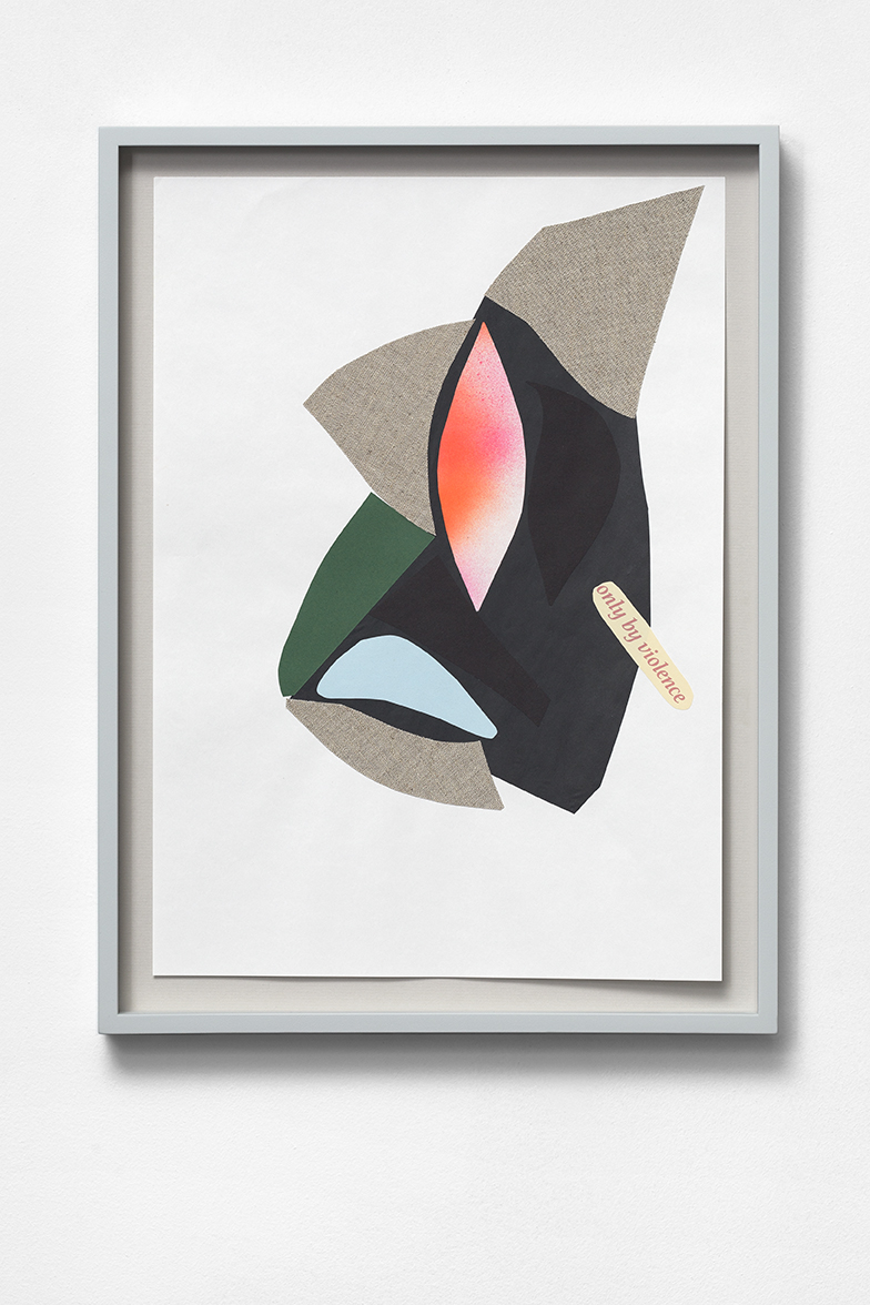 DICTA 9 (group 2) 2017 collage, framed dimensions: 47.2 x 35.3 cm