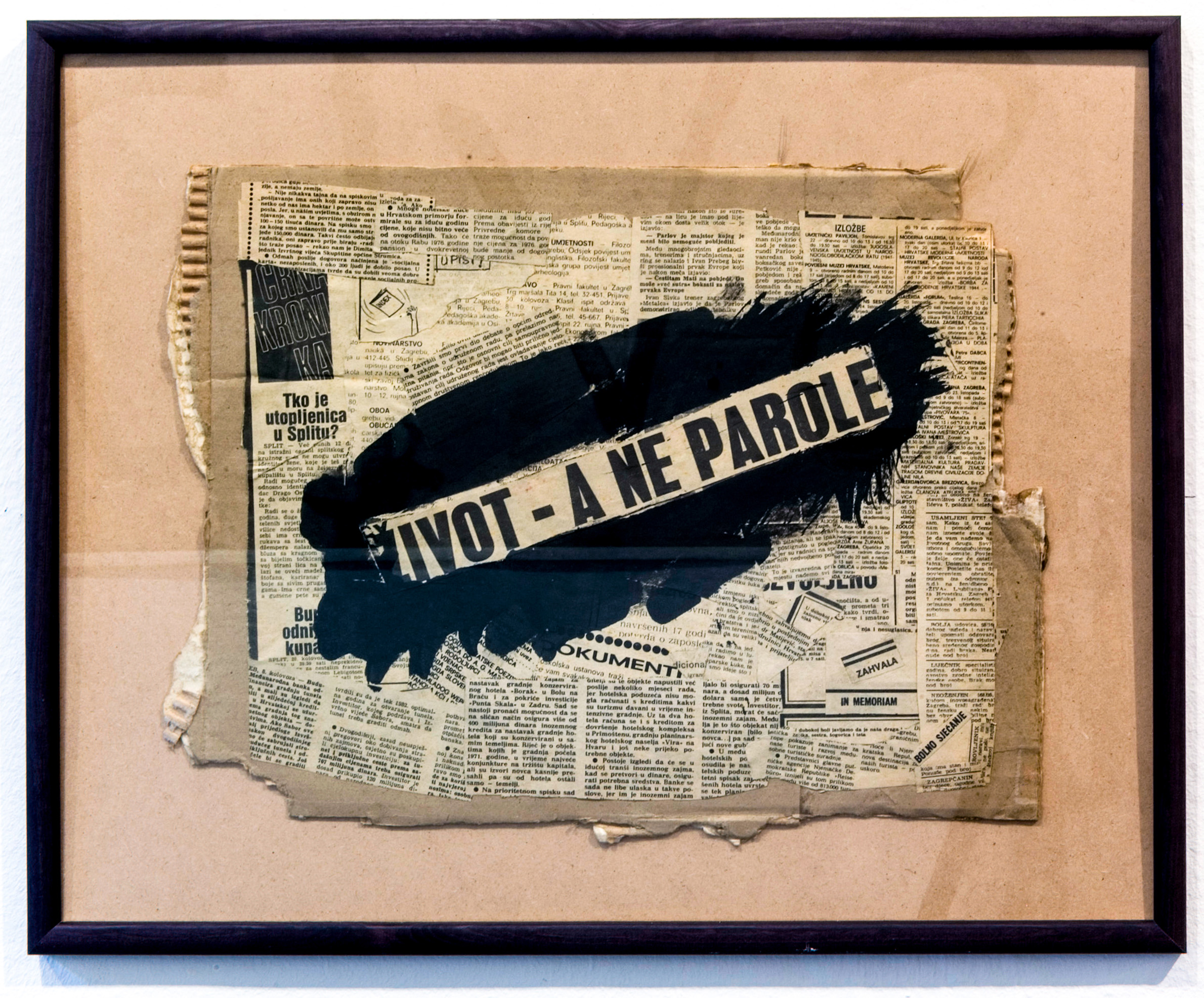 LIFE - BUT NO SLOGANS (1974) collage