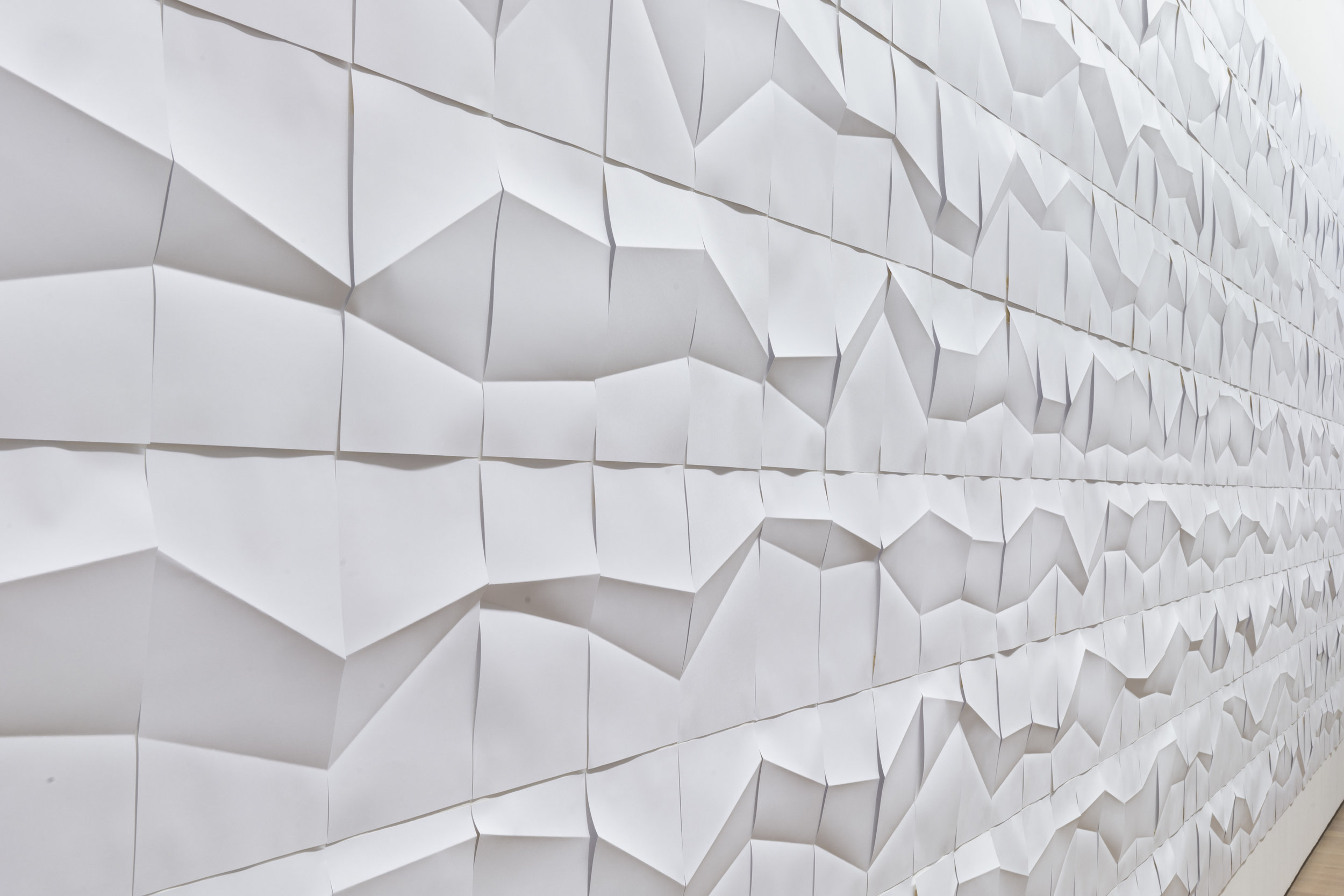 FLUCTUATING FOLDS (2012) Paper installation, variable dimensions