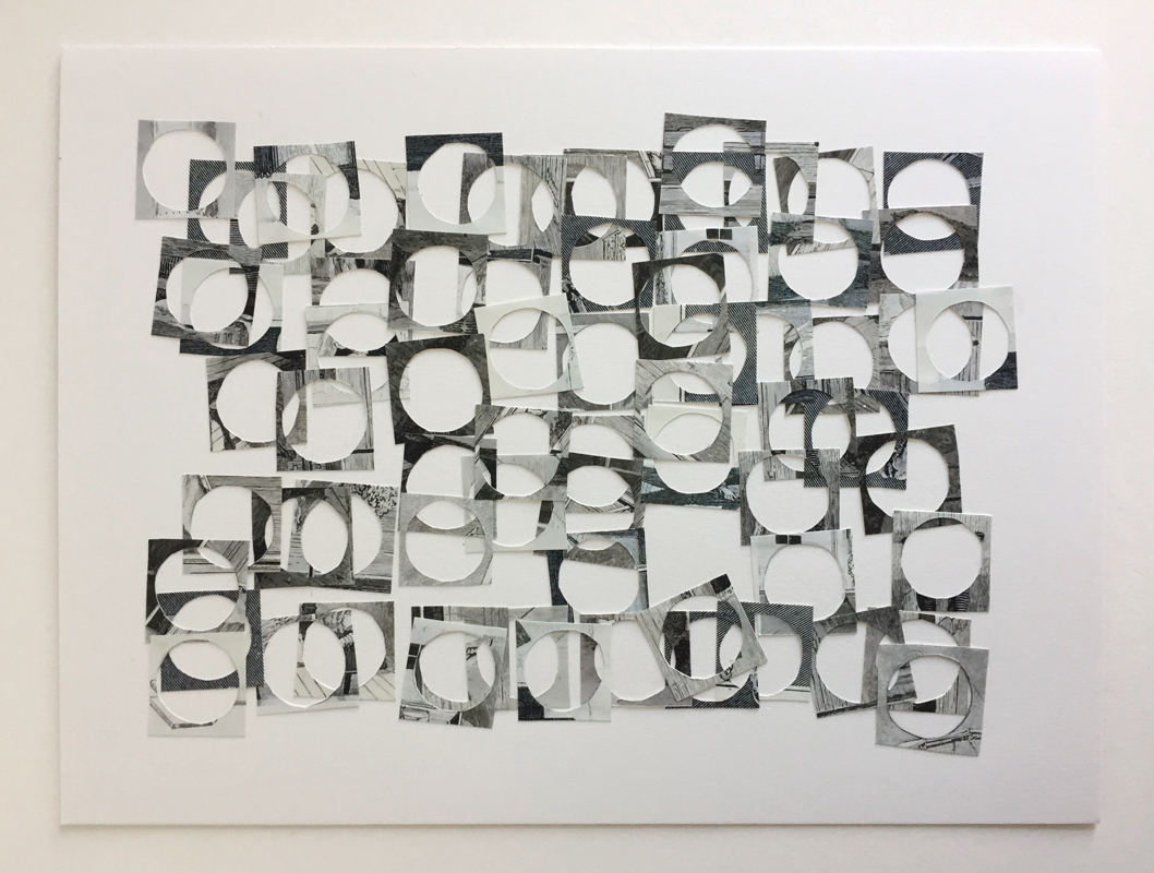 HOLES GRID (2018) Inkjet photo collage on Bristol board