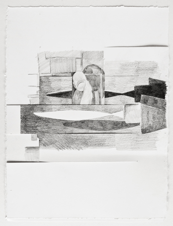 CUTS #3 (2016) pencil on paper, 37.5 x 29 cm