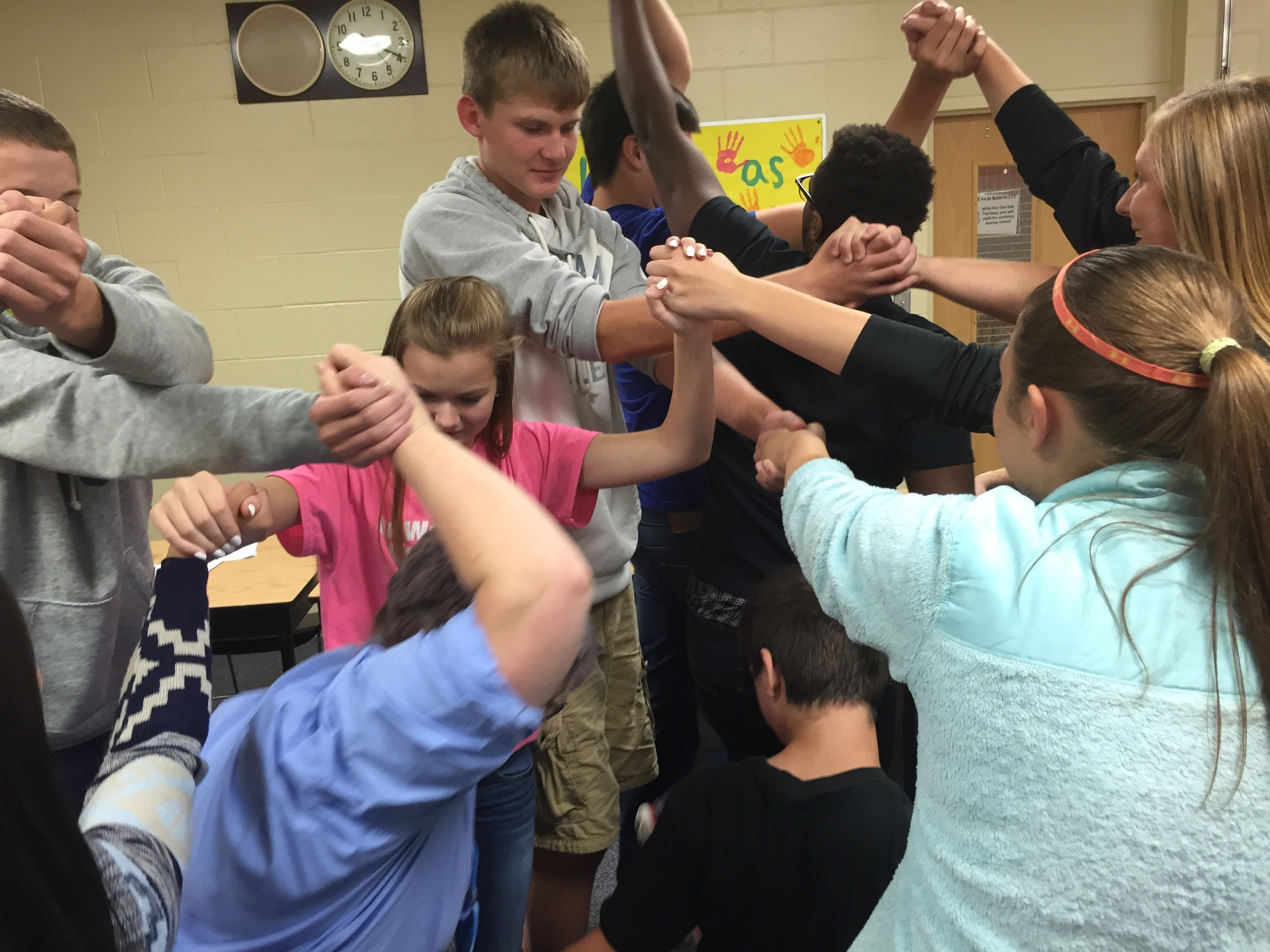 YACers try to untangle themselves from the Human Knot while learning how to work together to accomplish a goal.