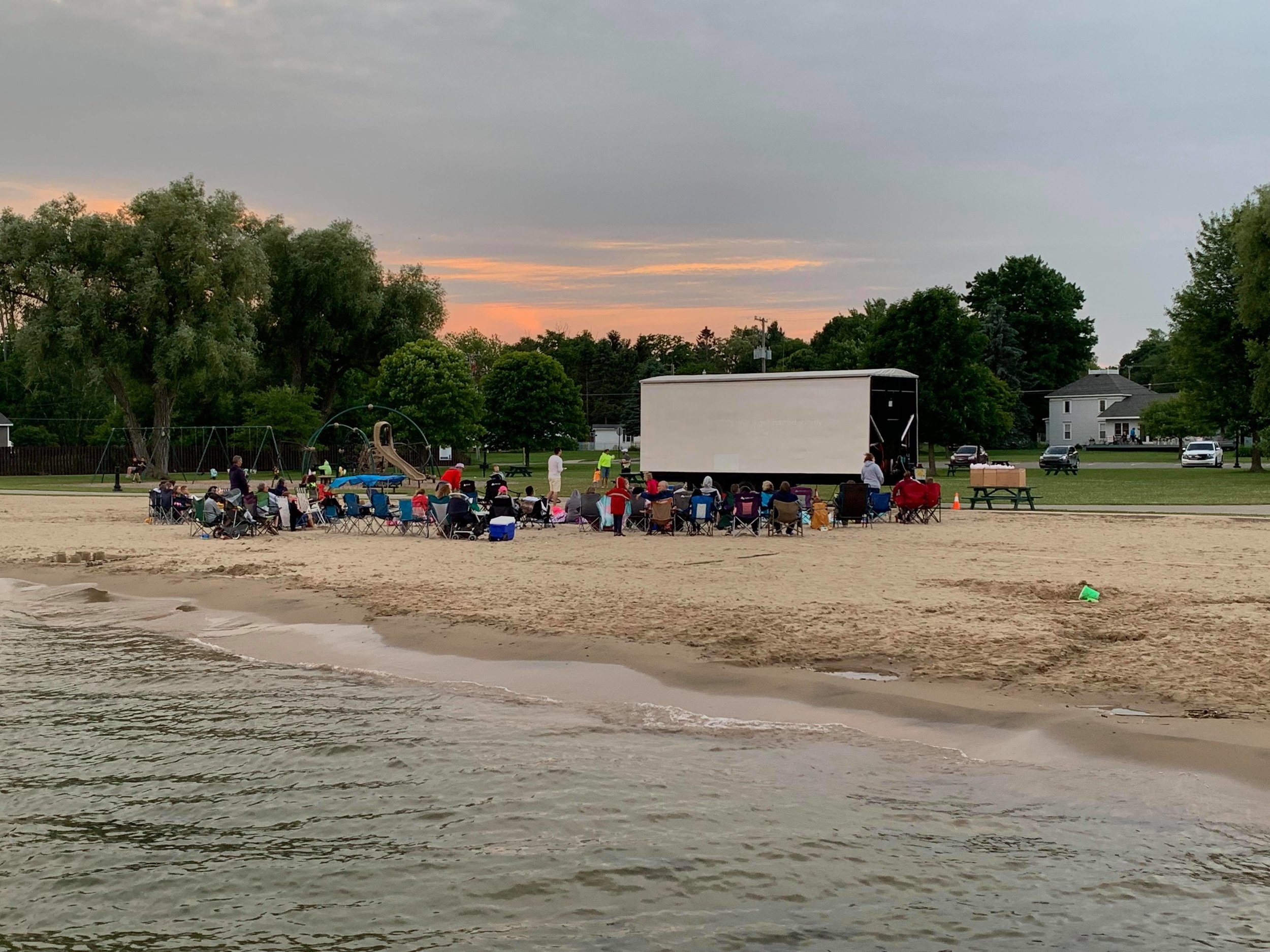 Eastern Region Winner: Movies on the Beach had nearly 90 attend their first lakeside movie last month.