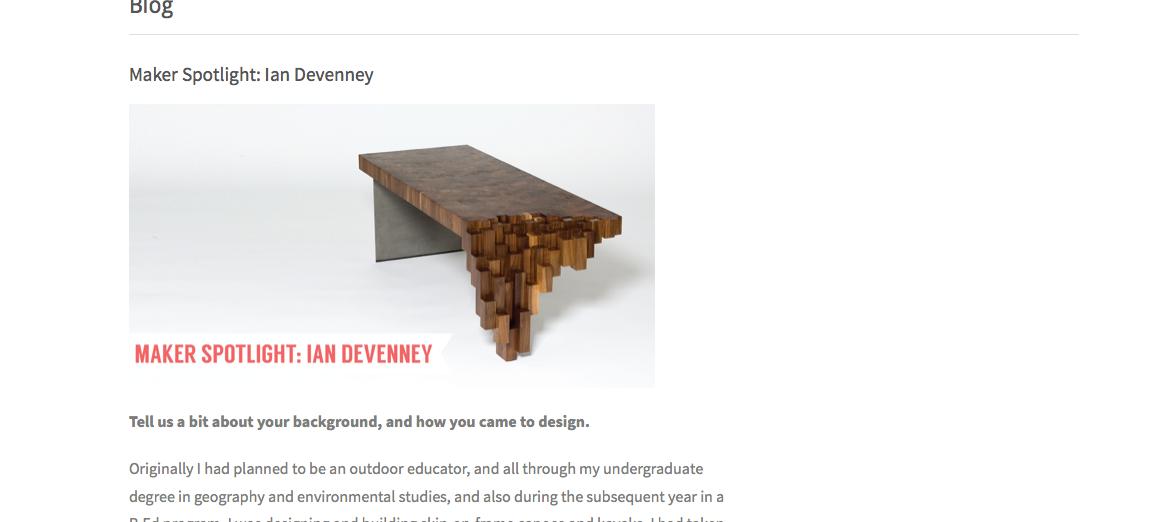 Maker Spotlight on Ian Devenney of  foxwedge  on  Maker's Nation  Blog