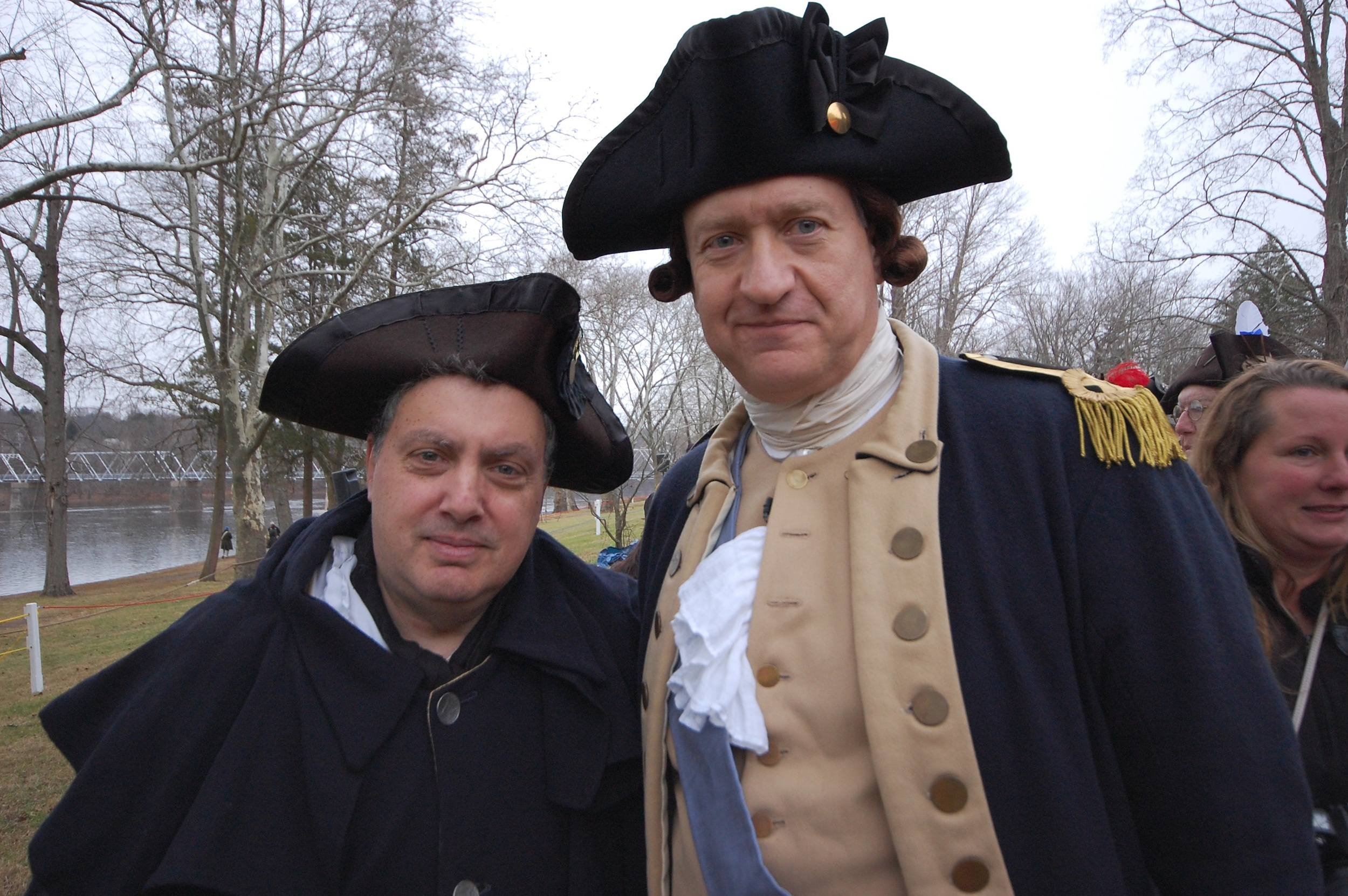 Dr. Howard Eisen (left) as John Morgan, with His Excellency General George Washington.