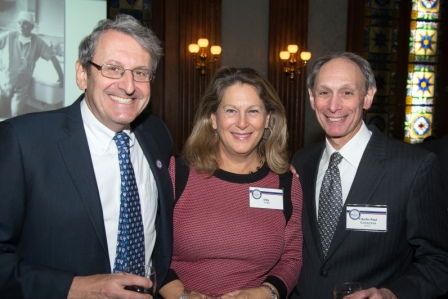 From left to right, Martin Kanovsky, M'78, INT'79, RES'81, FEL'83, his wife Ellen Teller, and Charles Paul Kimmelman, RES'79.