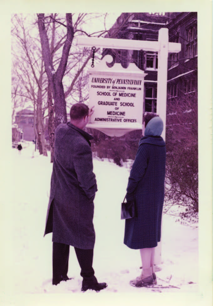 Winter Break 1958, Dan Albert with future wife Eleanor Kagle.