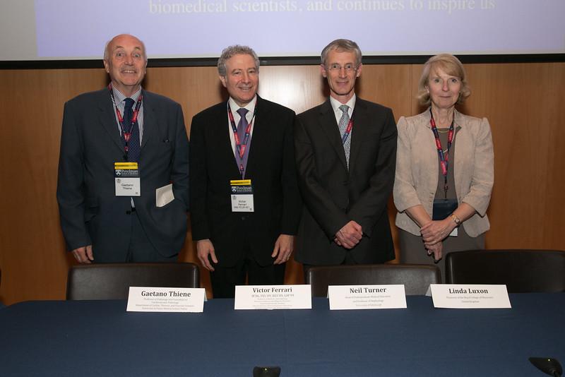 Inspiring History panelists:   Gaetano Thiene, MD,  Victor Ferrari, MD, Neil Turner, PhD, FRCP, Linda Luxon, MB, FRCP