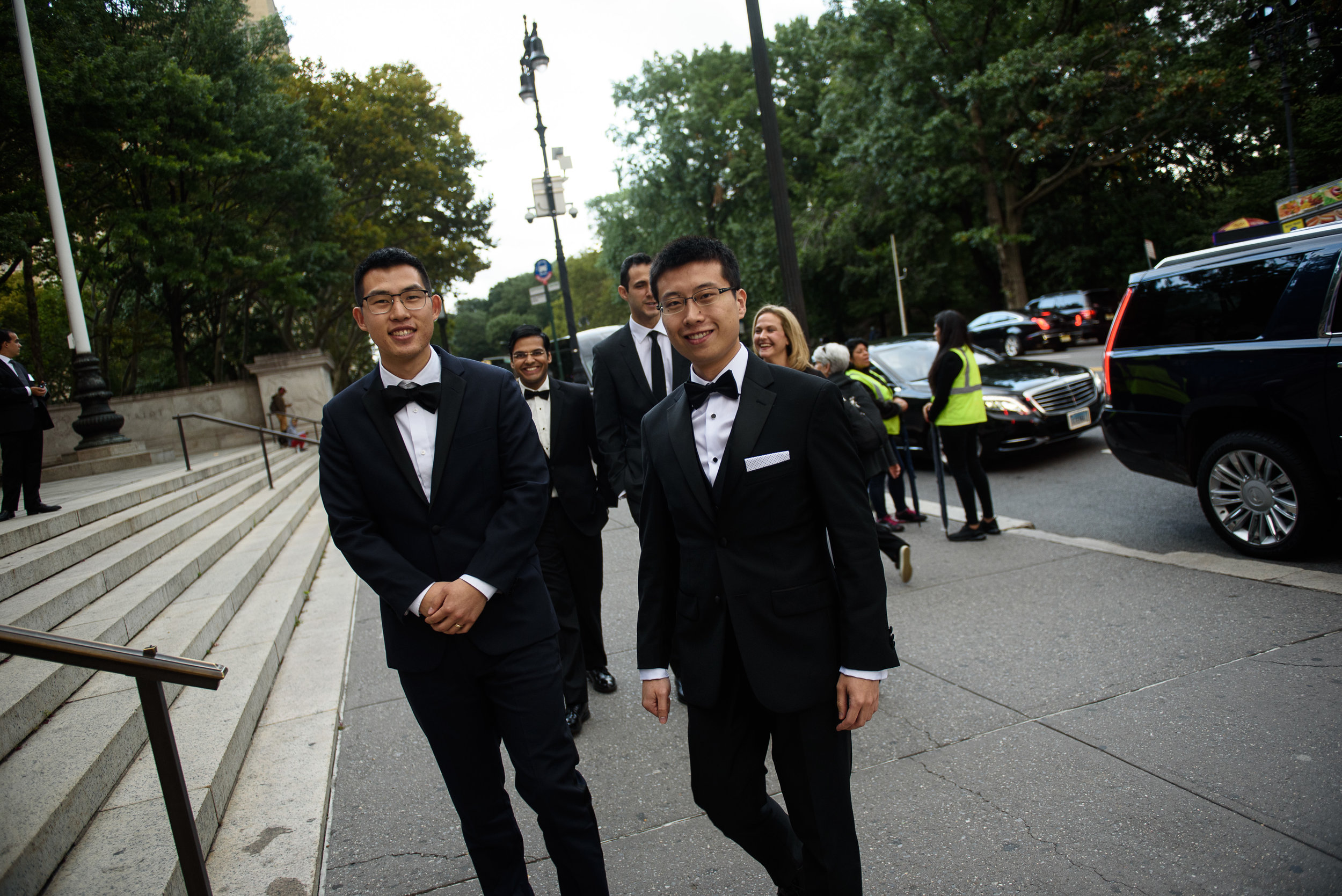 from left   Edward Chuang and Jinyang Li