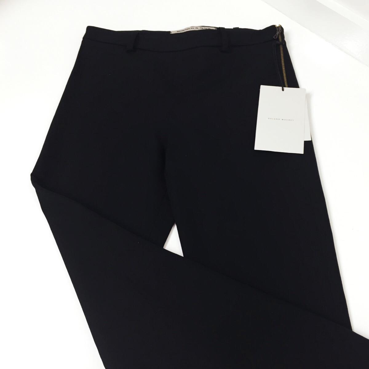 We shortened these Stella McCartney full-flare hem trousers...