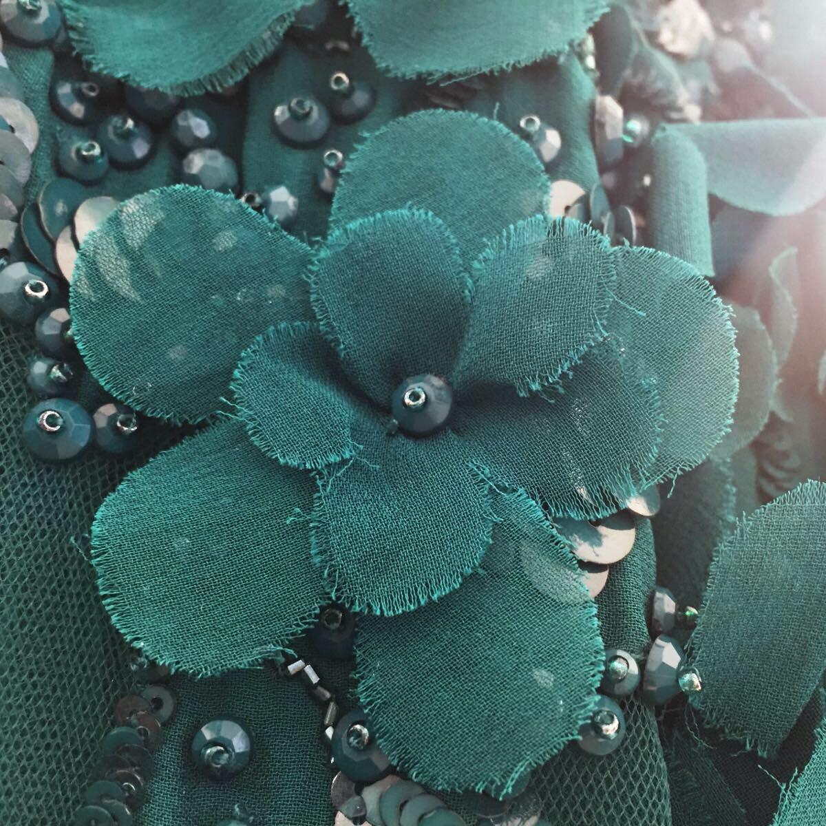 Flower Embellished Dress