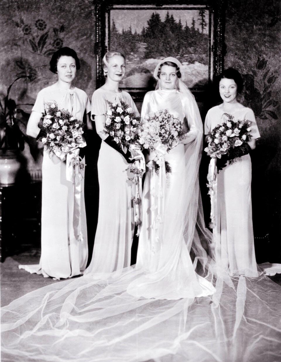 1930s Bridesmaid Dresses