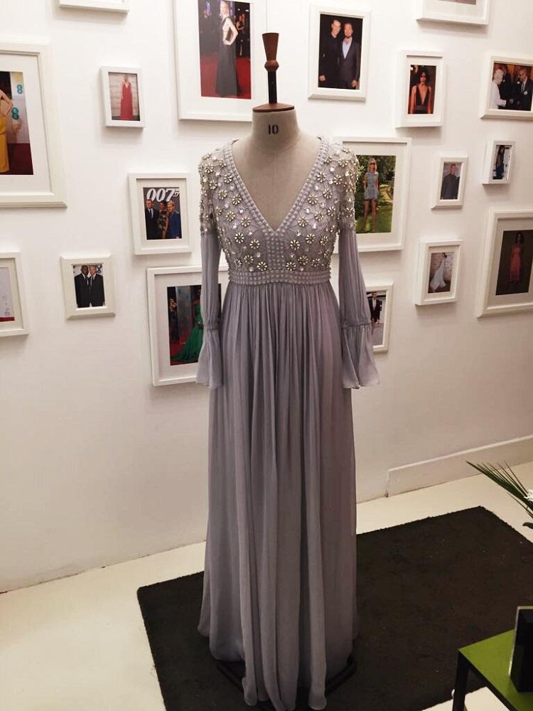 Silver Beaded Dress