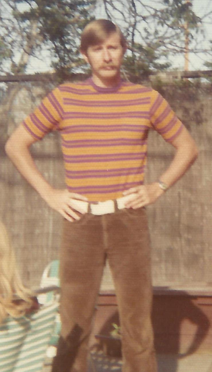 My hair still pretty short in 1969